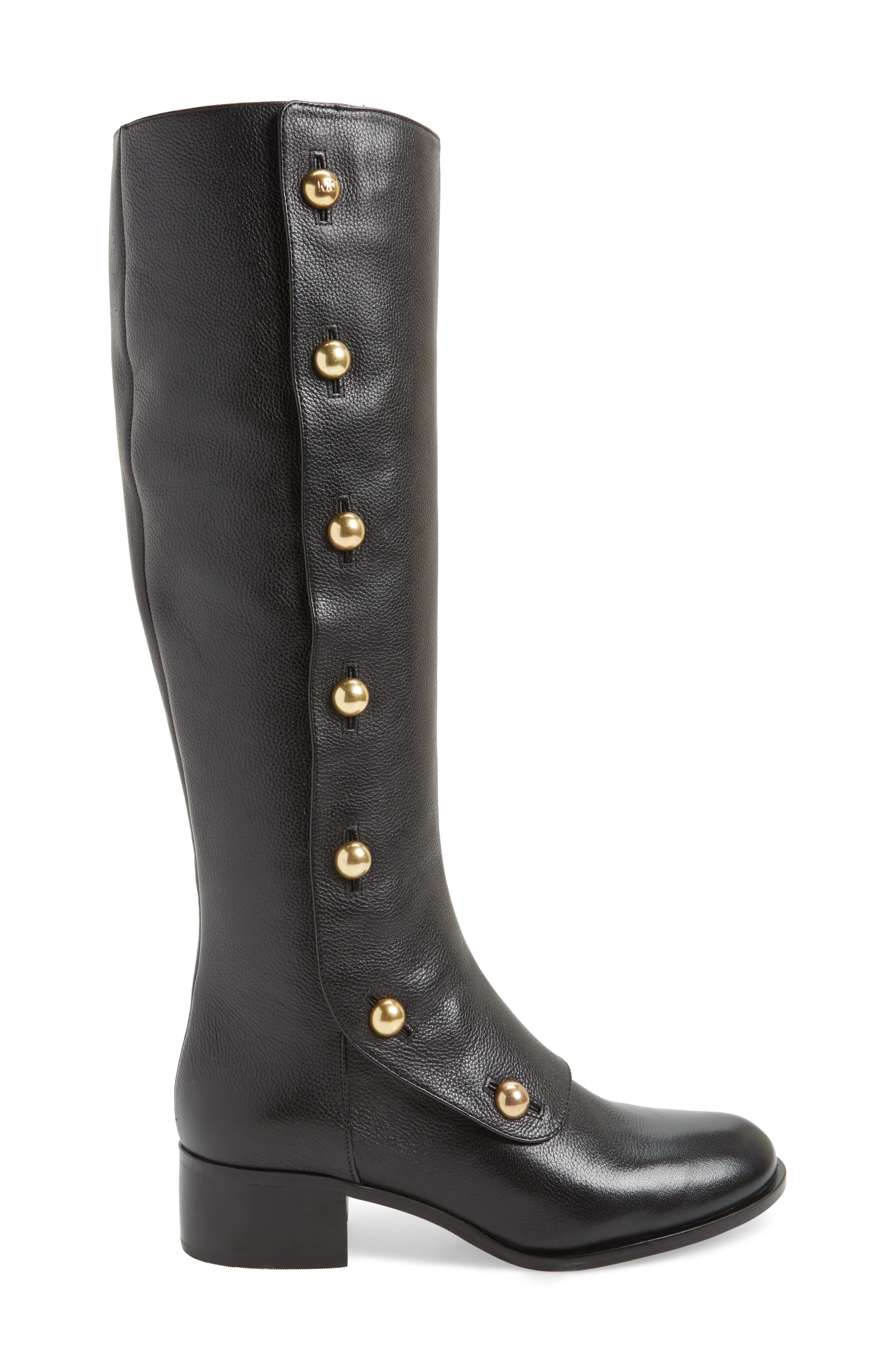 Maisie Boot,                             Alternate thumbnail 3, color,                             Black Tumbled Leather