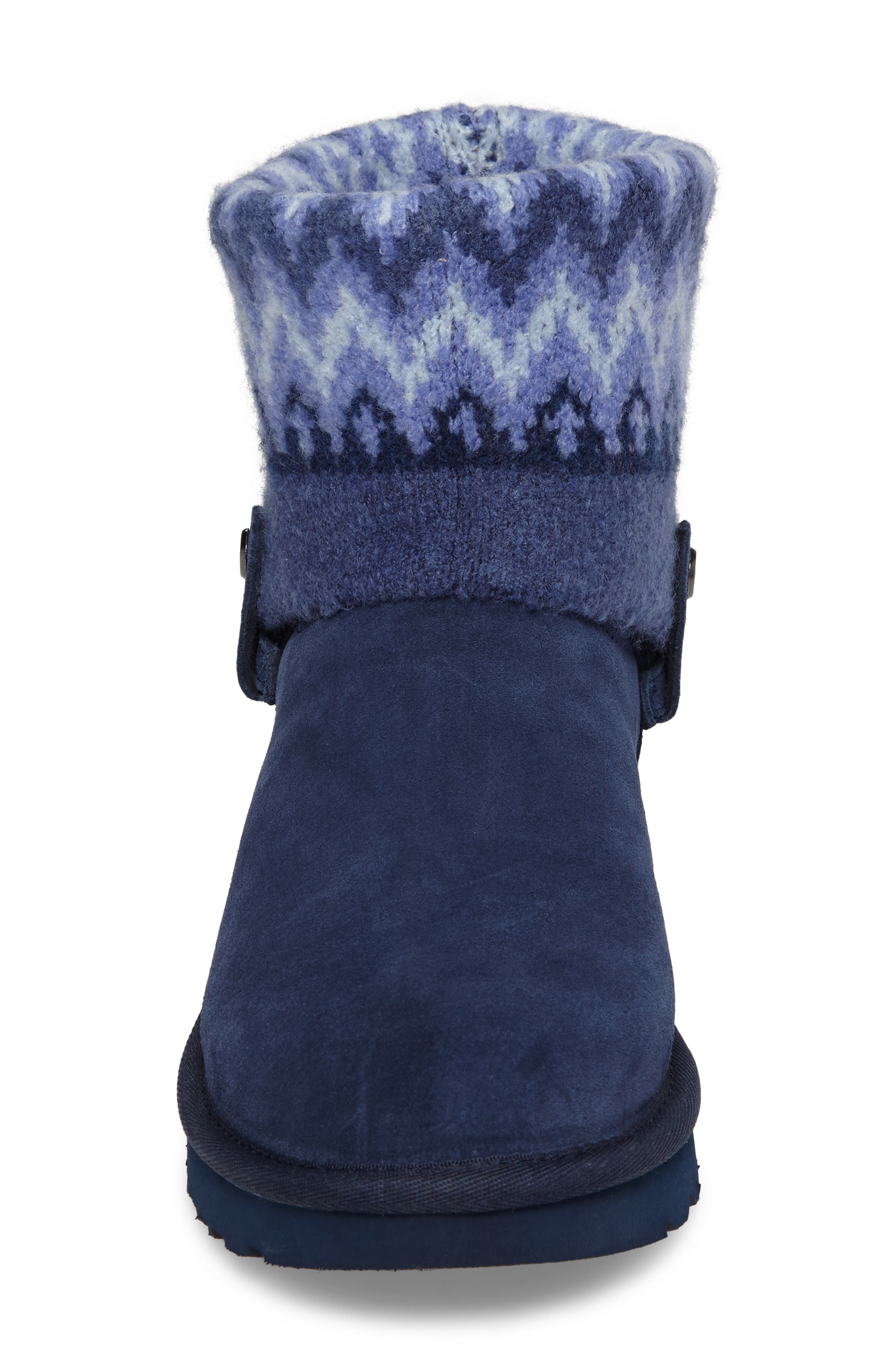 Saela Icelandic Boot,                             Alternate thumbnail 4, color,                             Navy Suede