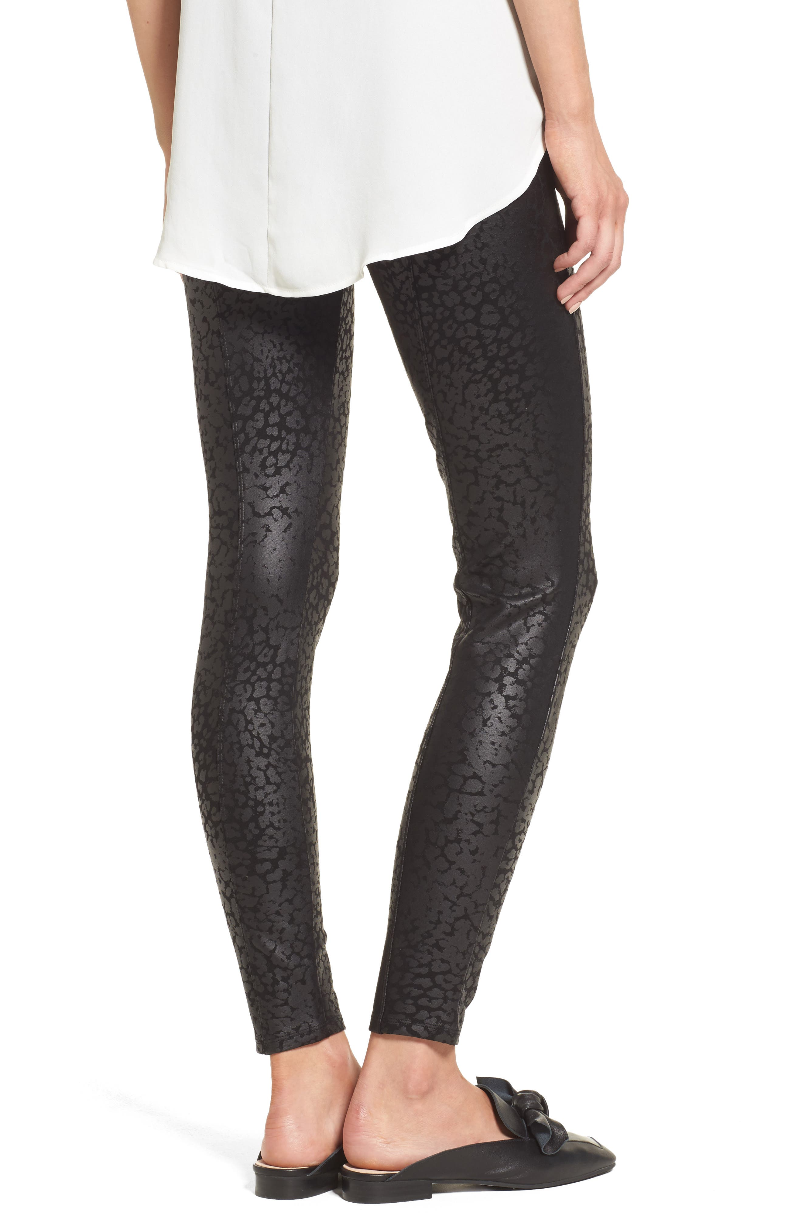 Willa Leggings,                             Alternate thumbnail 3, color,                             Liquid Leopard