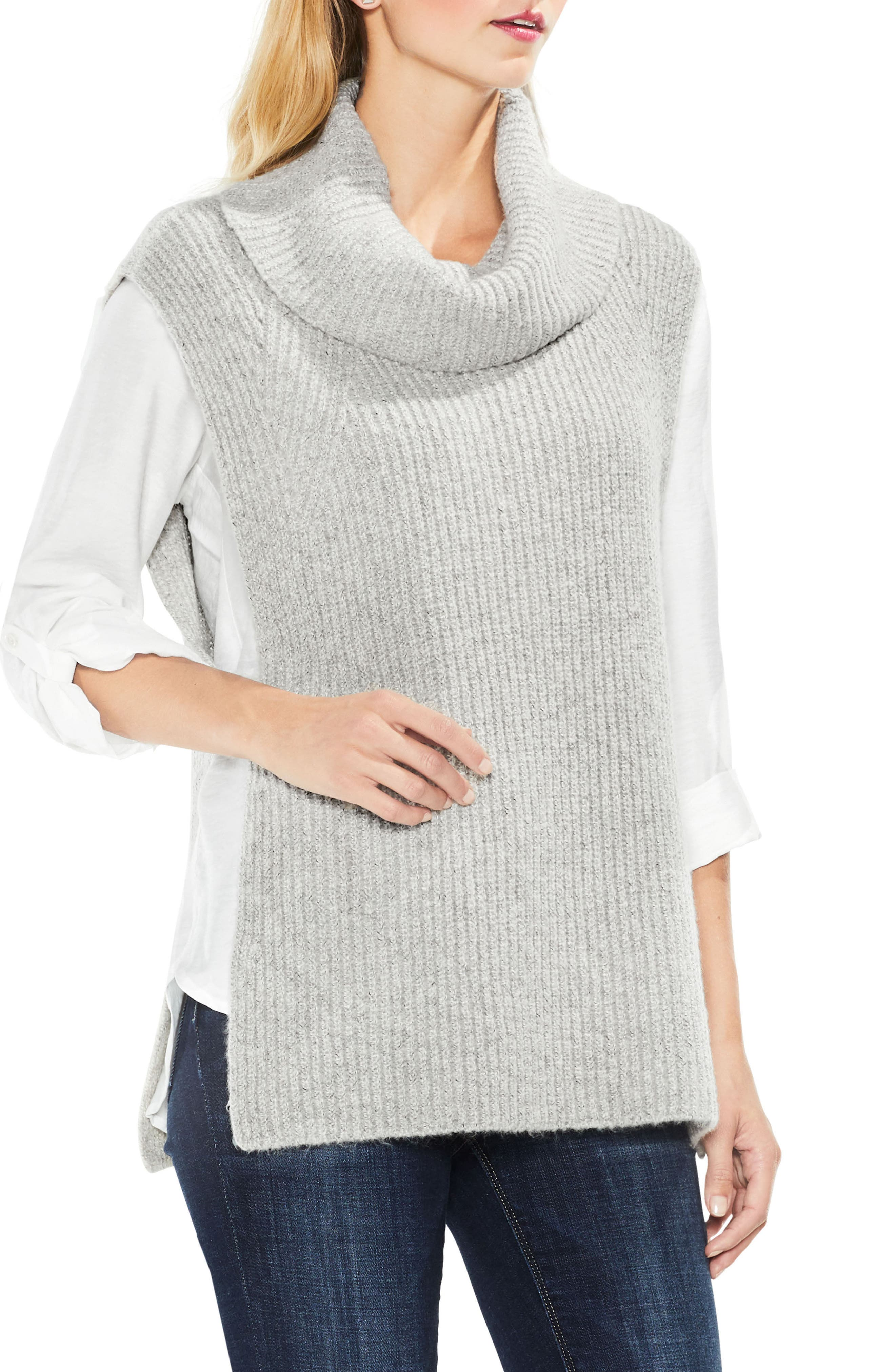 Two by Vince Camuto Sleeveless Ribbed Turtleneck