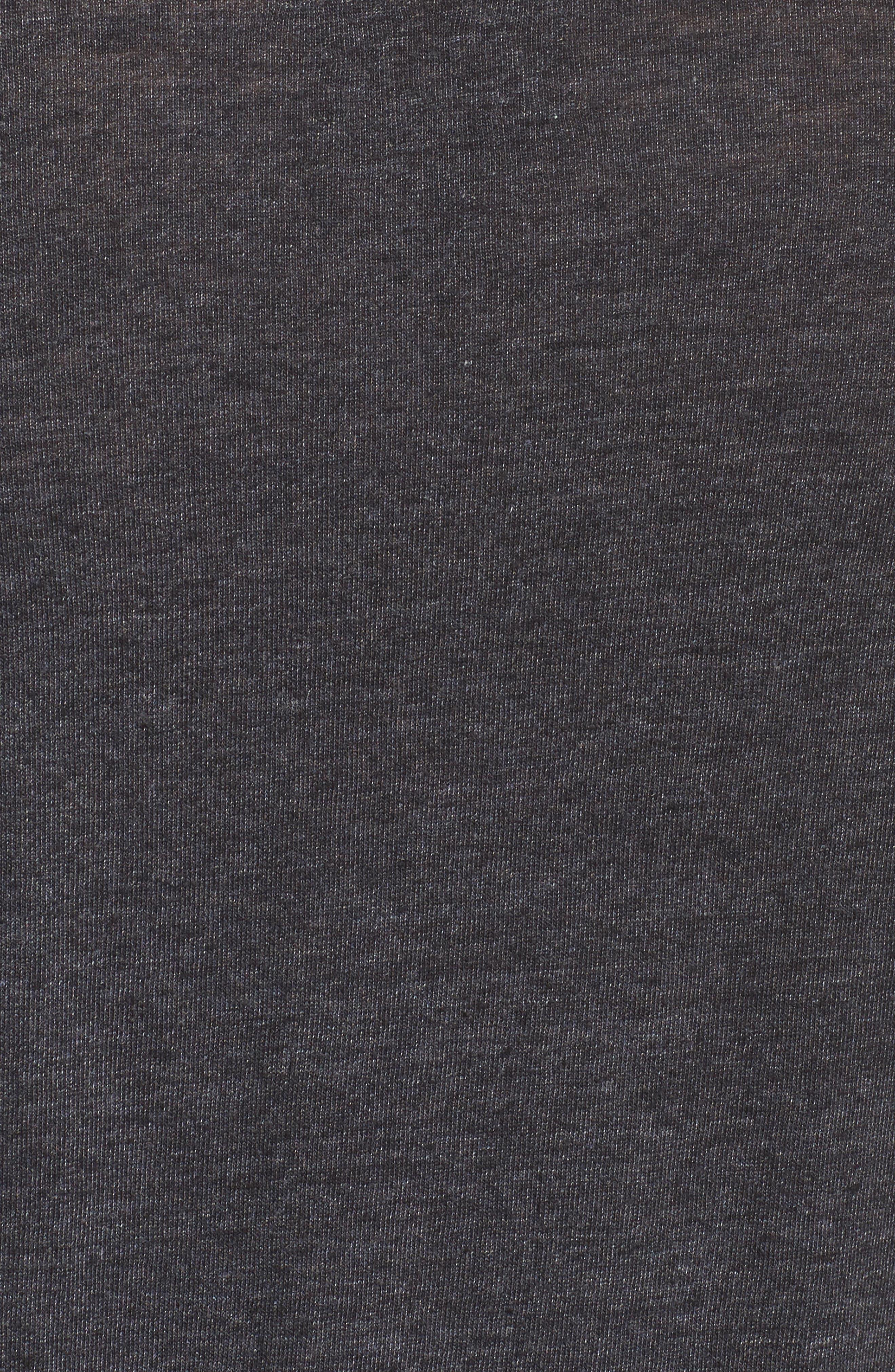 Cold Shoulder Jersey Tee,                             Alternate thumbnail 6, color,                             Black