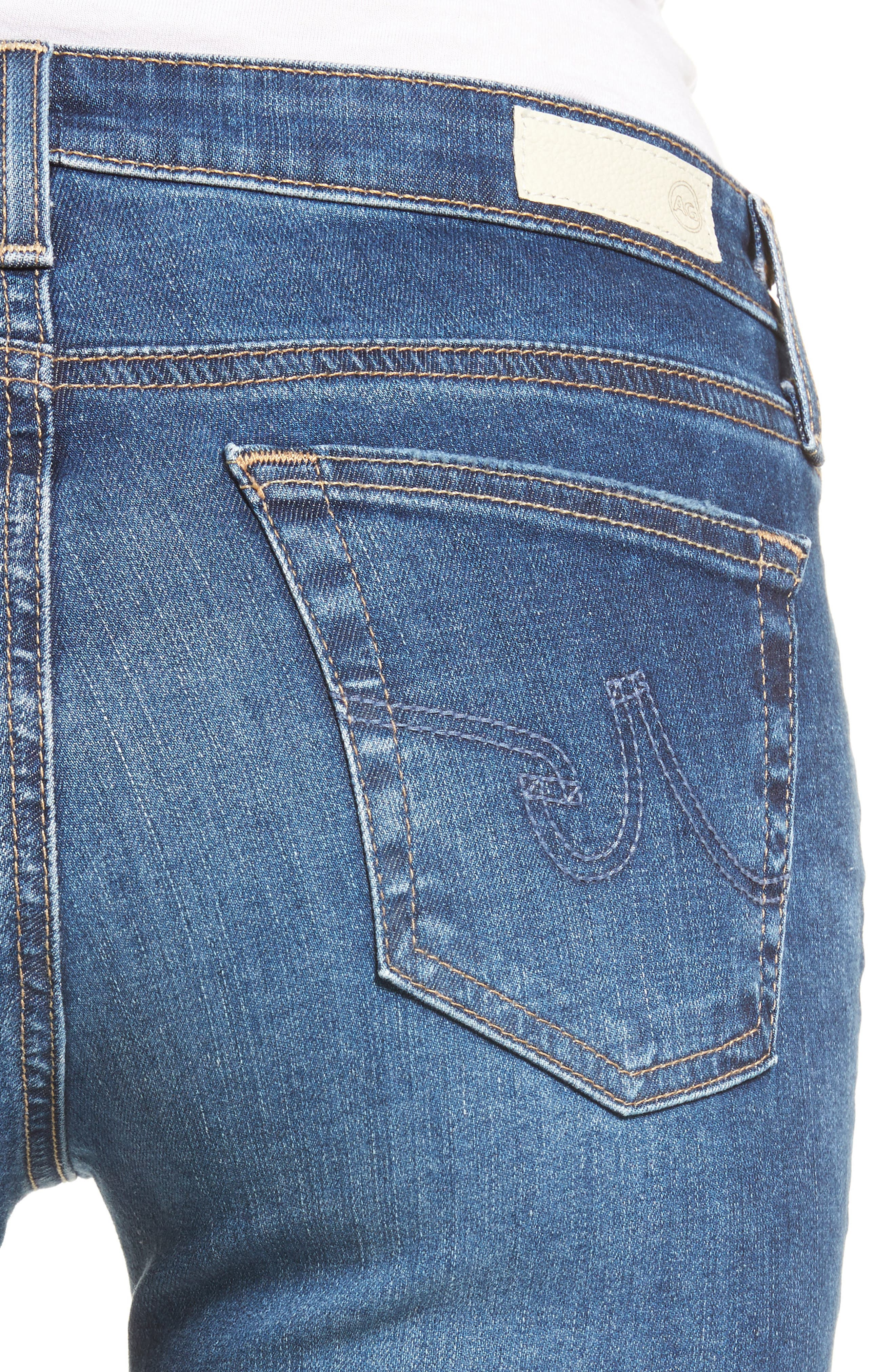 Alternate Image 4  - AG The Legging Super Skinny Jeans (13 Years Daybreak Destroyed)