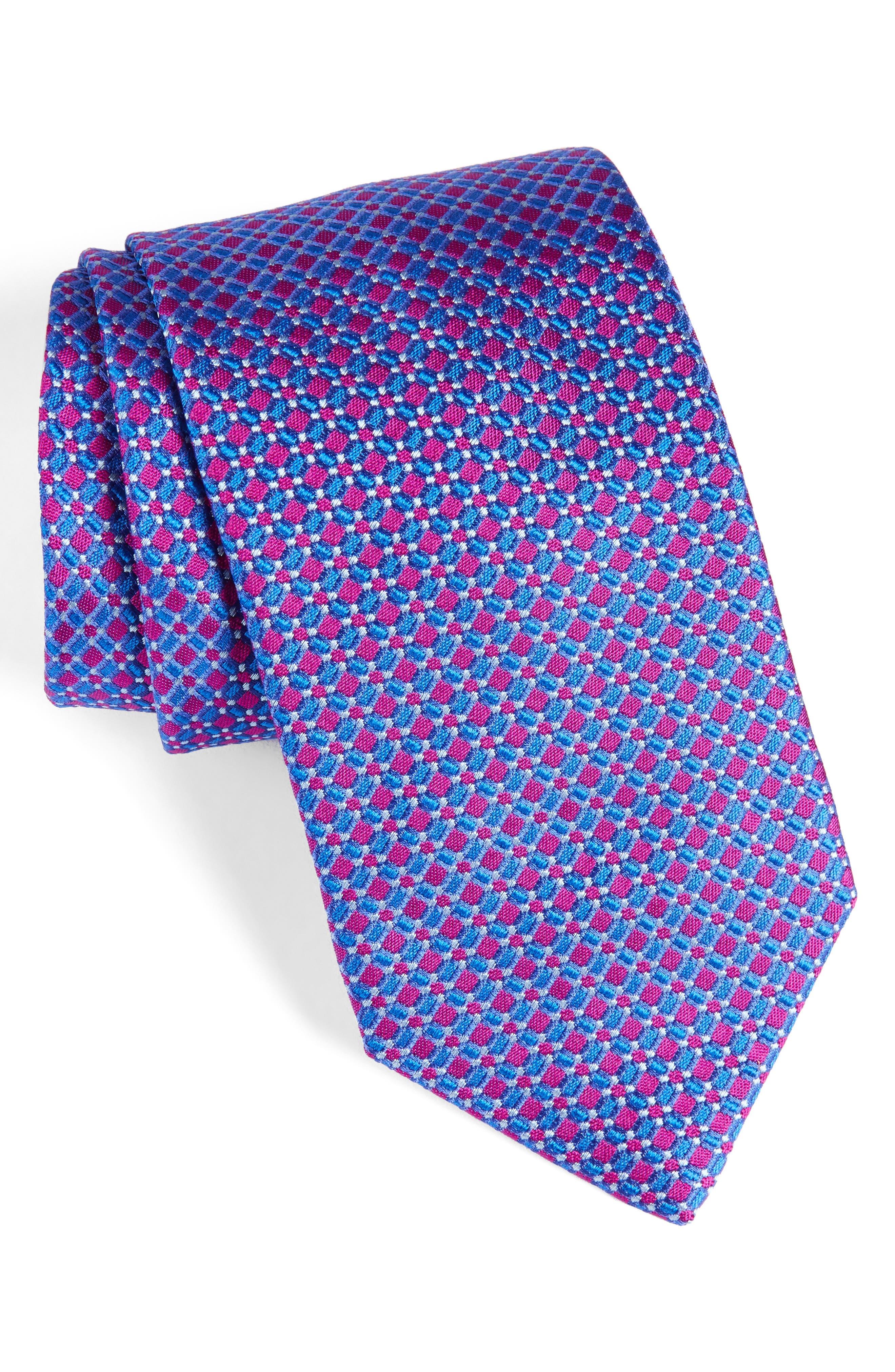 David Donahue Neat Silk Tie
