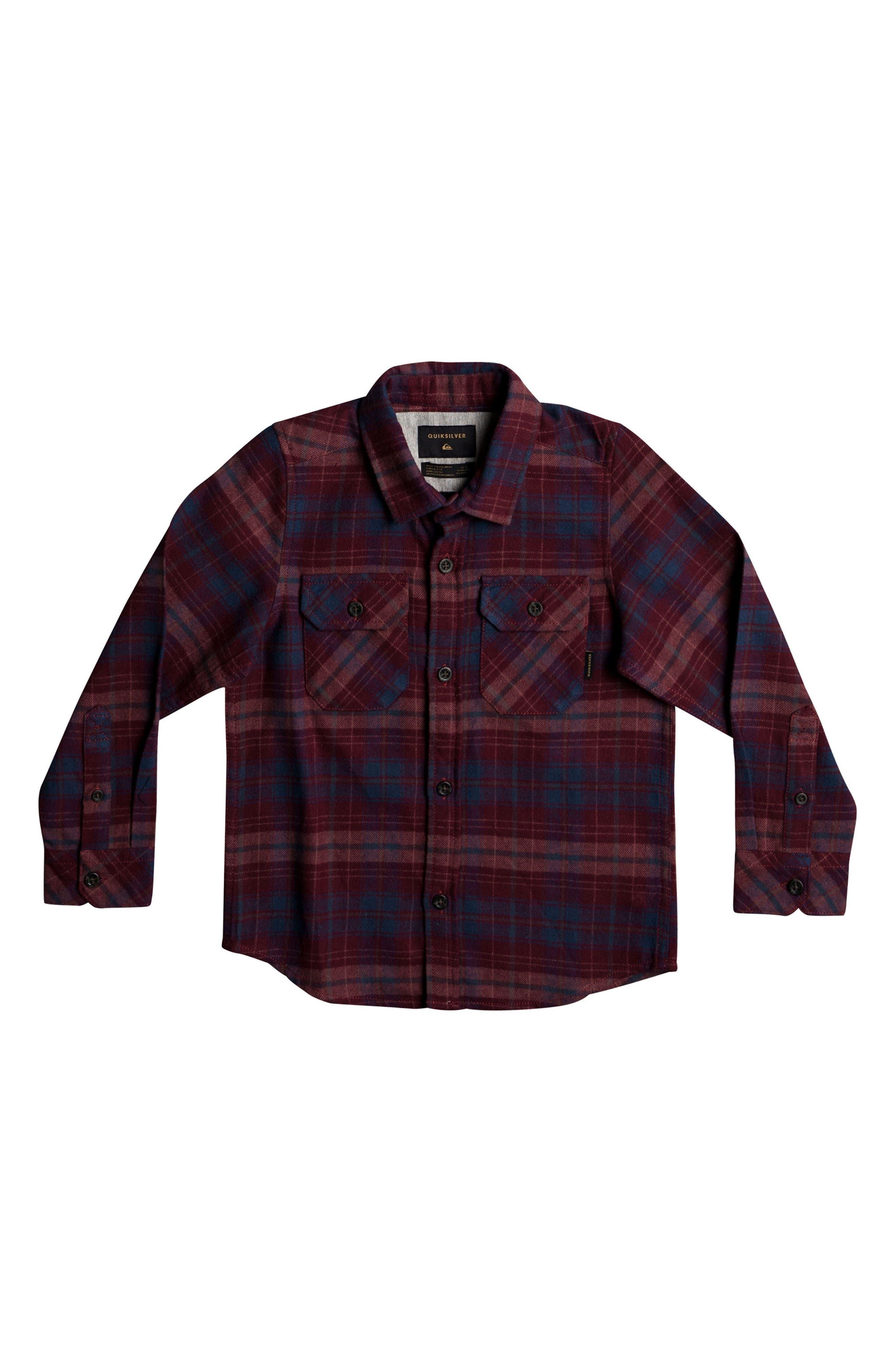 Quiksilver Fitzspeere Plaid Flannel Shirt (Toddler Boys & Little Boys)