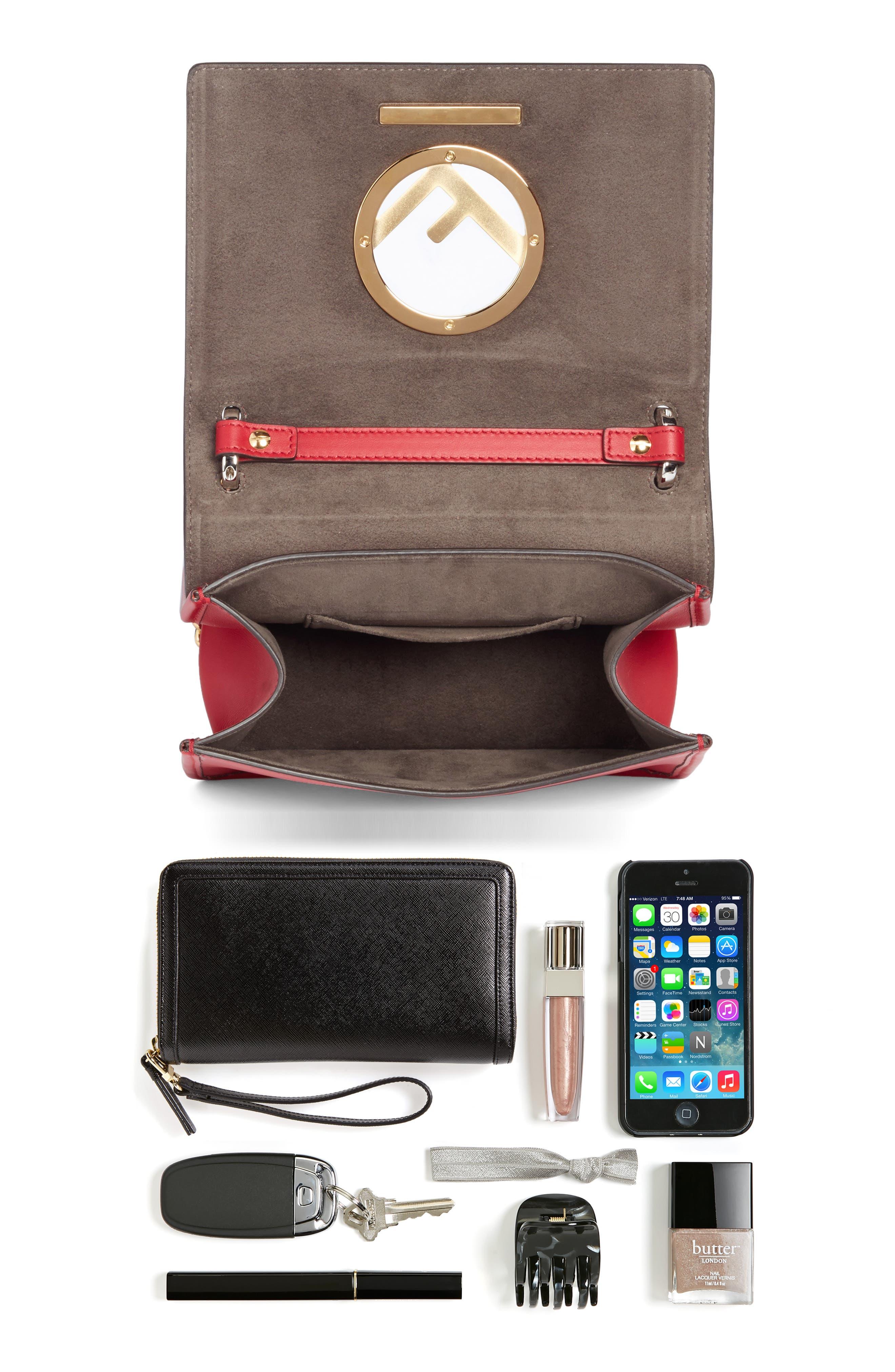 Alternate Image 7  - Fendi Kan I Calfskin Leather Shoulder Bag
