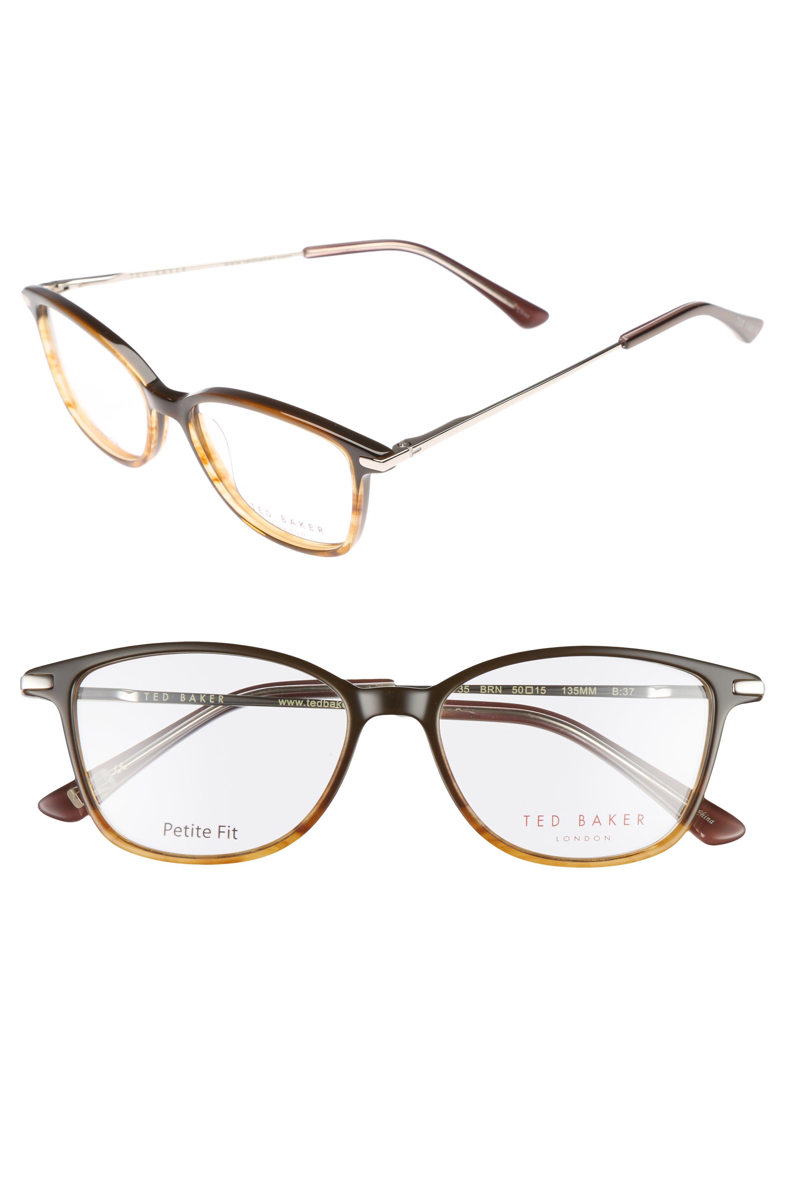 Petite Fit 50mm Optical Glasses,                         Main,                         color, Brown