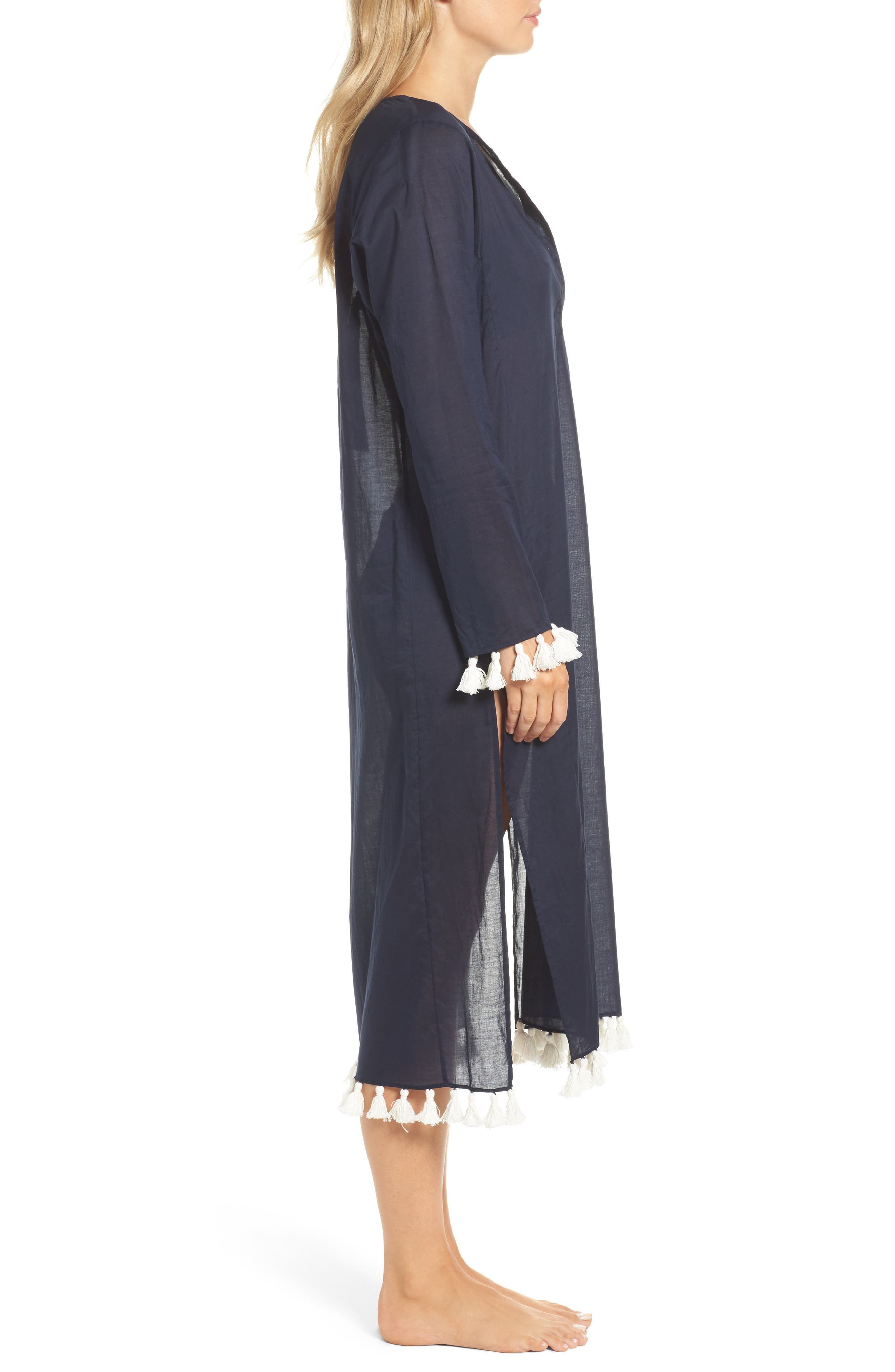 Sandy Cover-Up Tunic,                             Alternate thumbnail 3, color,                             Tory Navy