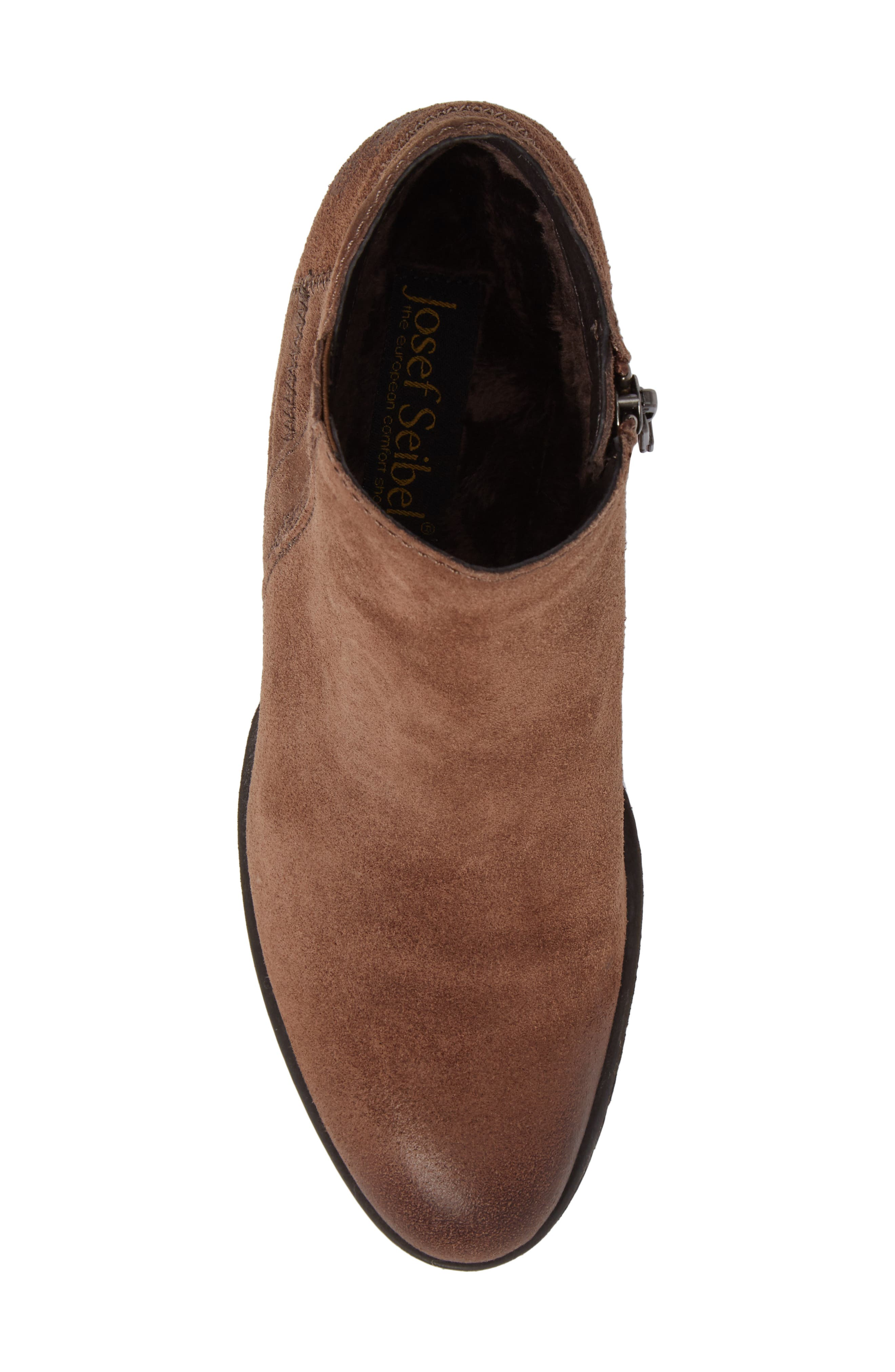Daphne Bootie,                             Alternate thumbnail 4, color,                             Brown Leather