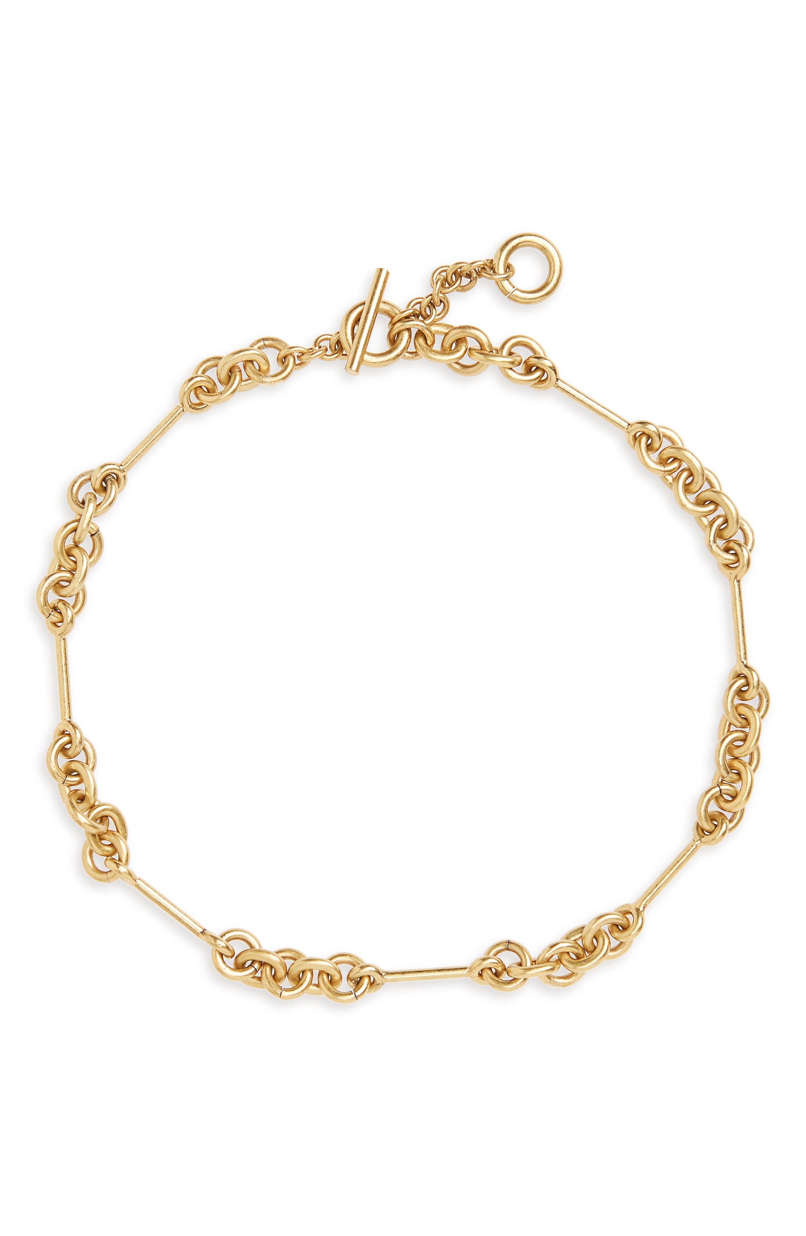 Circle Link Choker Necklace,                         Main,                         color, Lt. Gold Ox