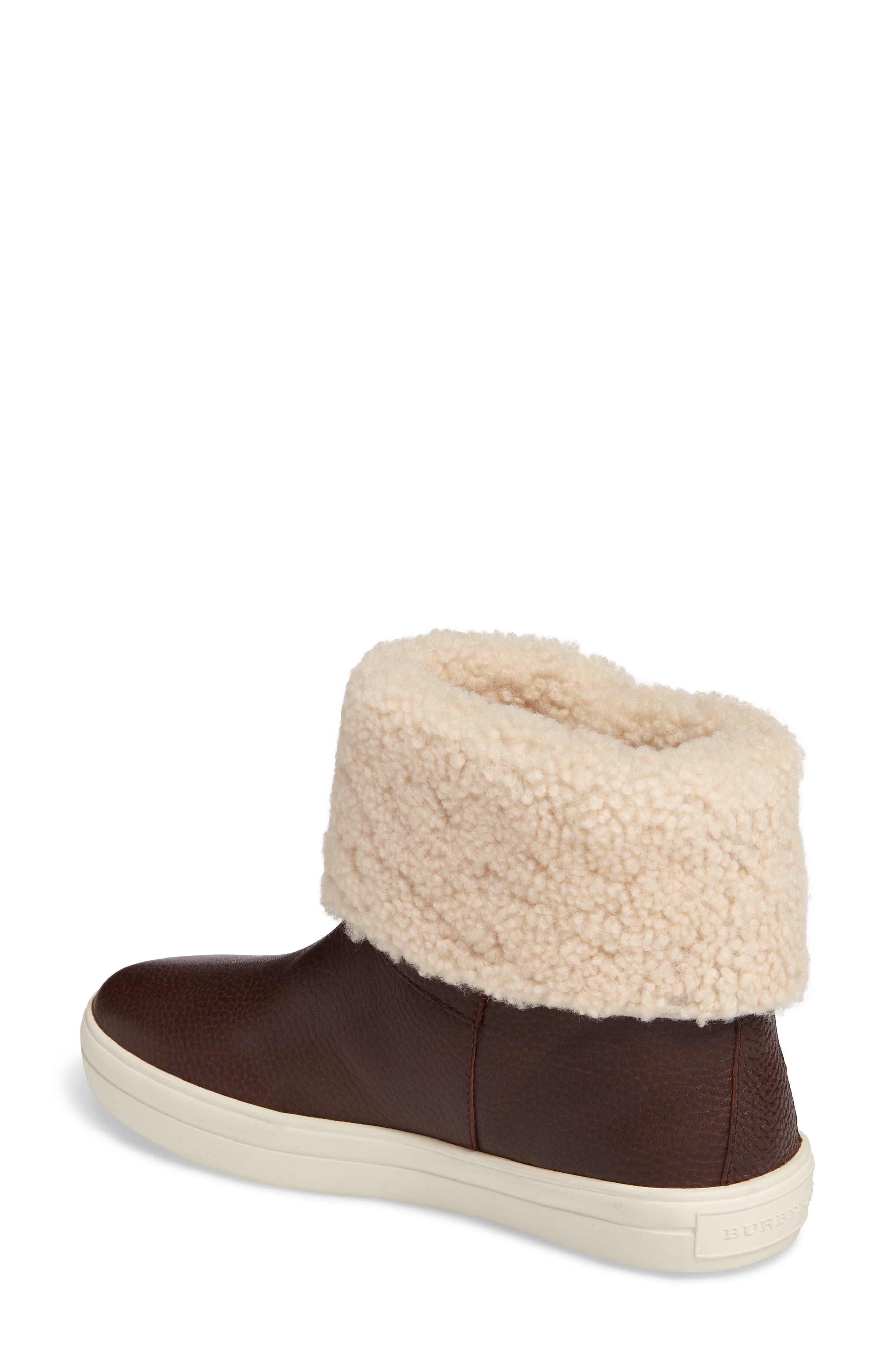 Alternate Image 2  - Burberry Genuine Shearling Boot (Women)