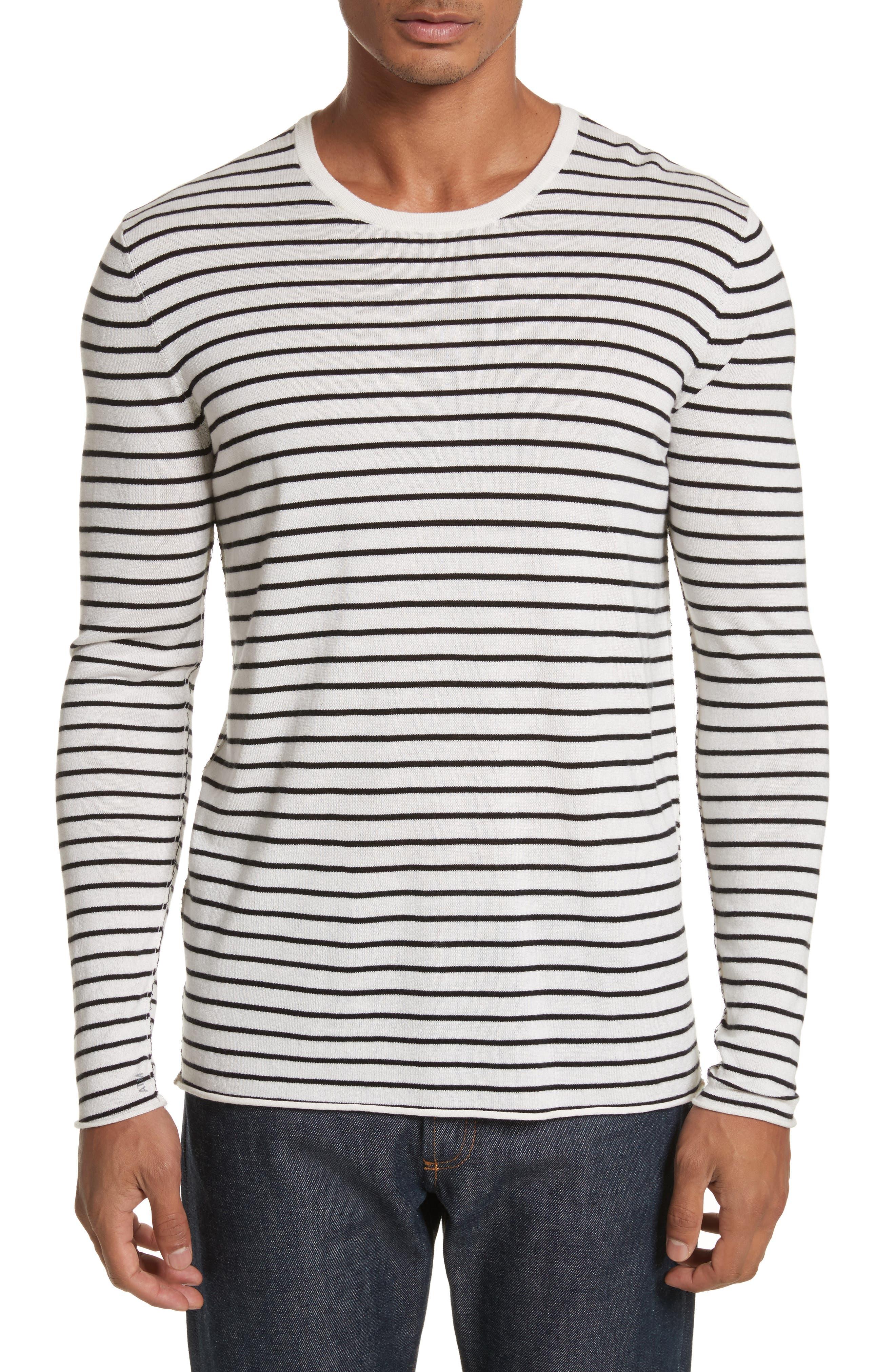 Alternate Image 1 Selected - ATM Anthony Thomas Melillo Stripe Silk Blend Sweater