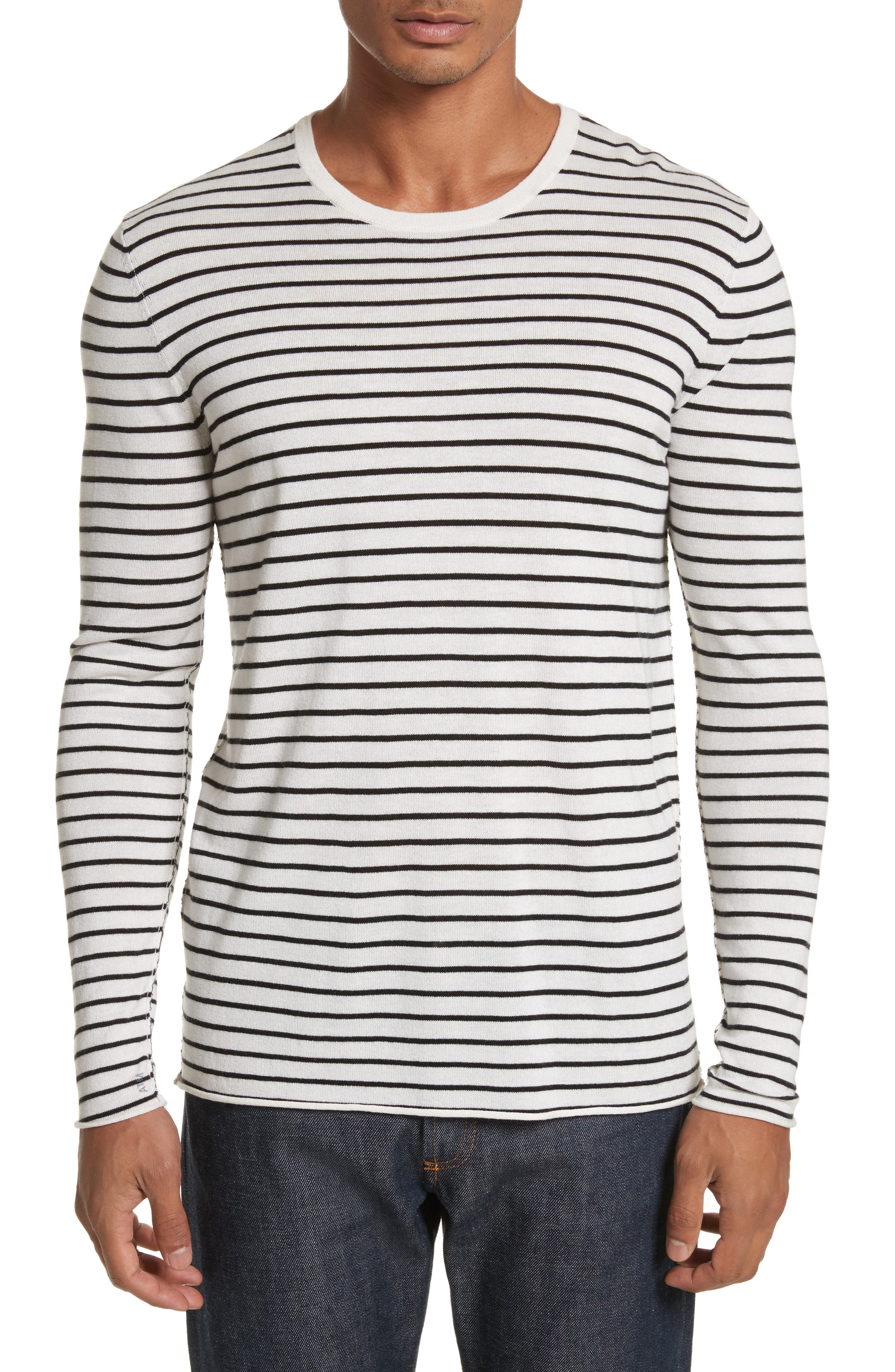 Main Image - ATM Anthony Thomas Melillo Stripe Silk Blend Sweater