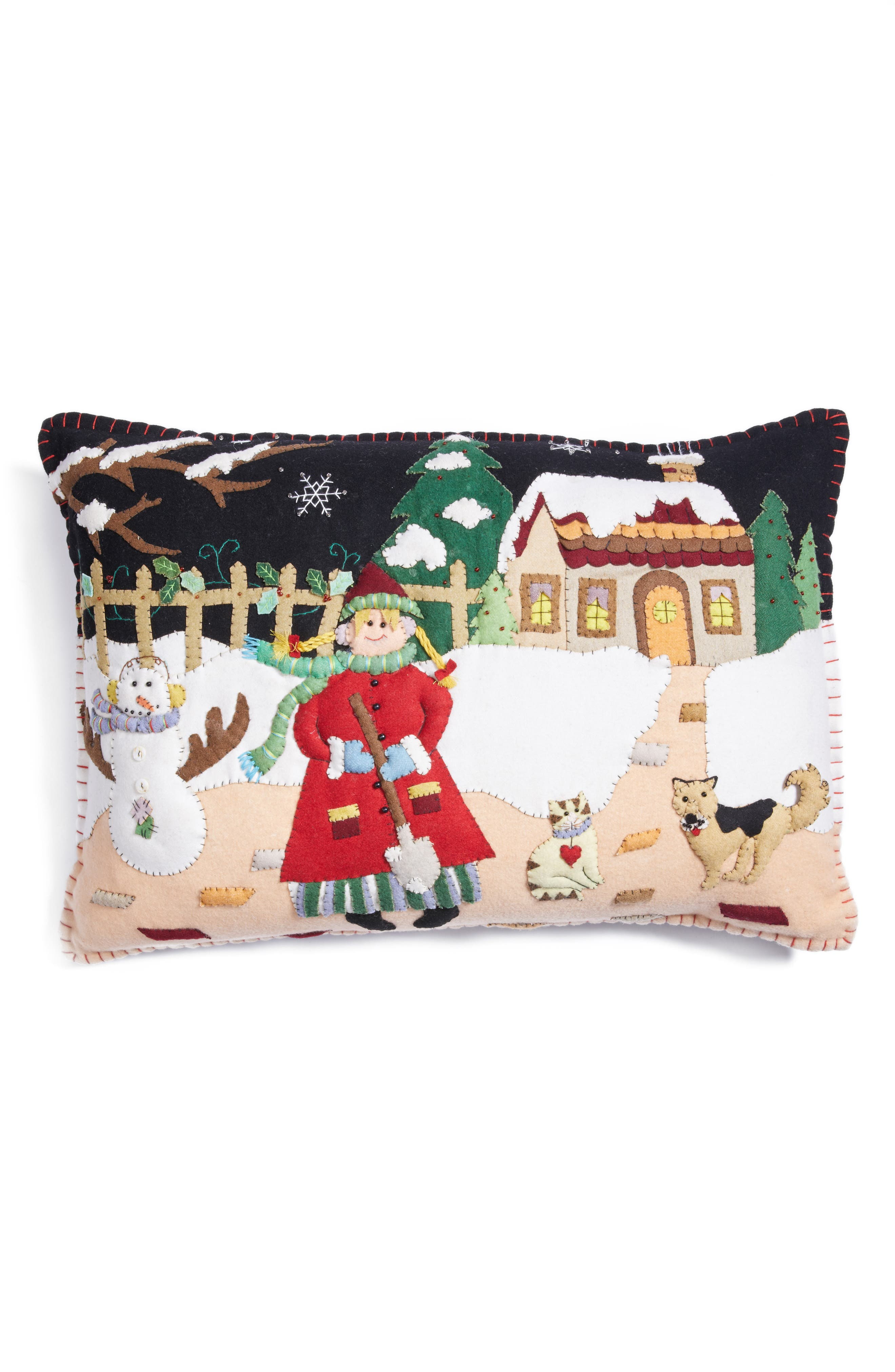 New World Arts Snow Day Pillow