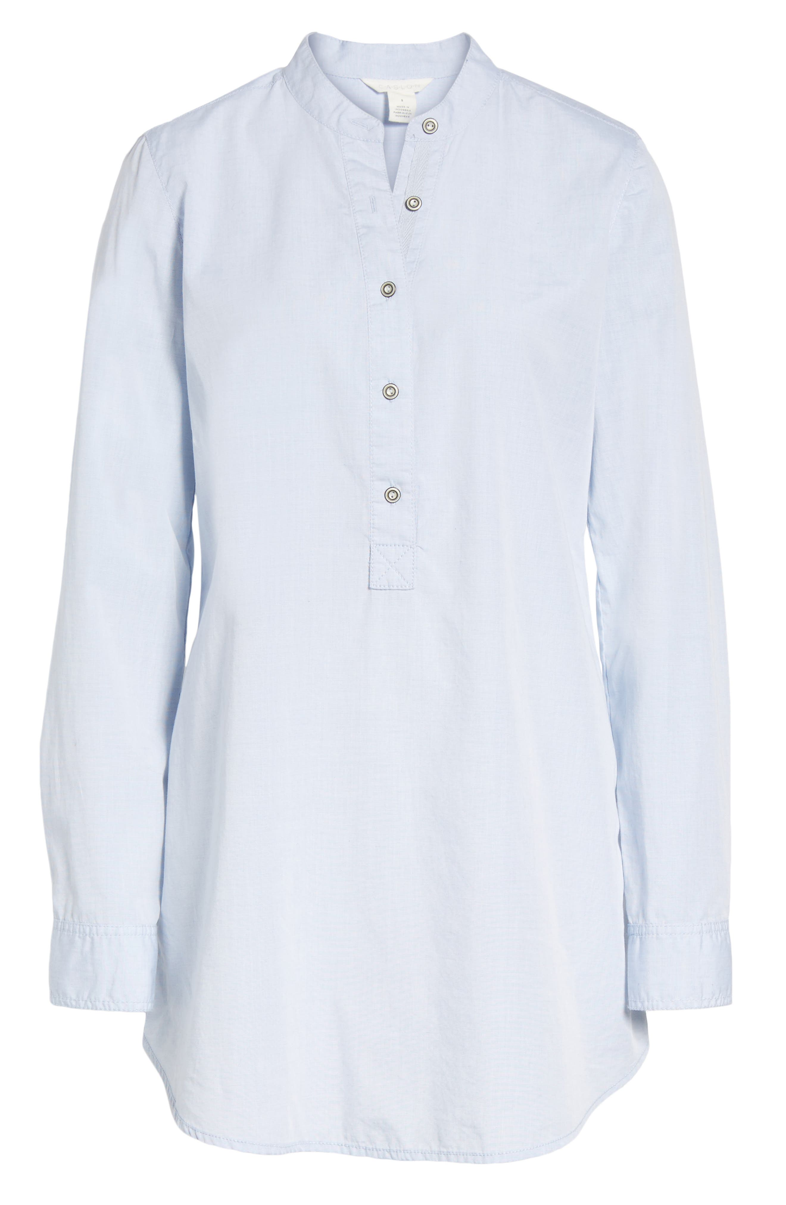 Alternate Image 6  - Caslon® Popover Tunic Shirt (Regular & Petite)