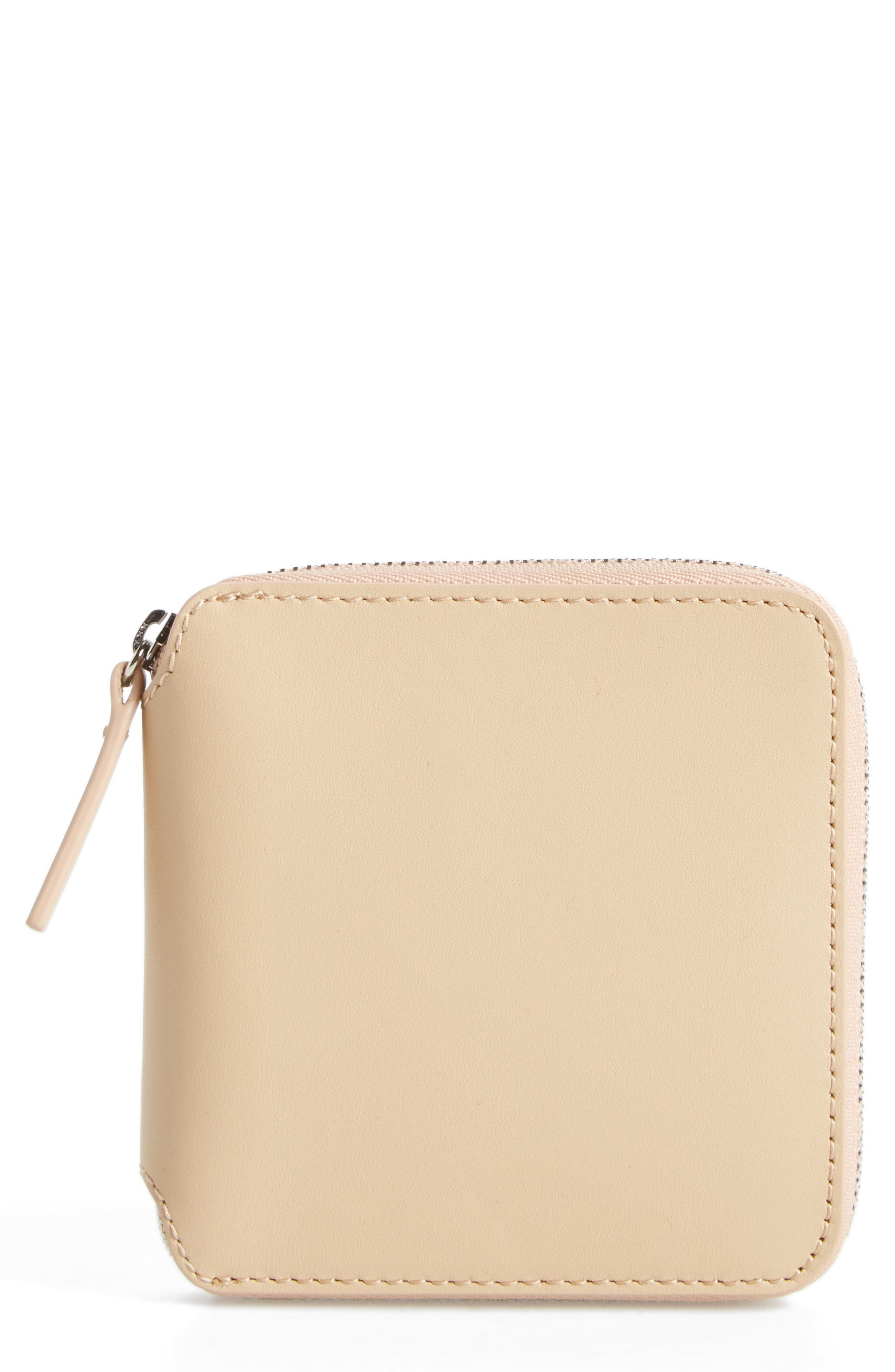 Baggu Zip Around Square Leather Wallet