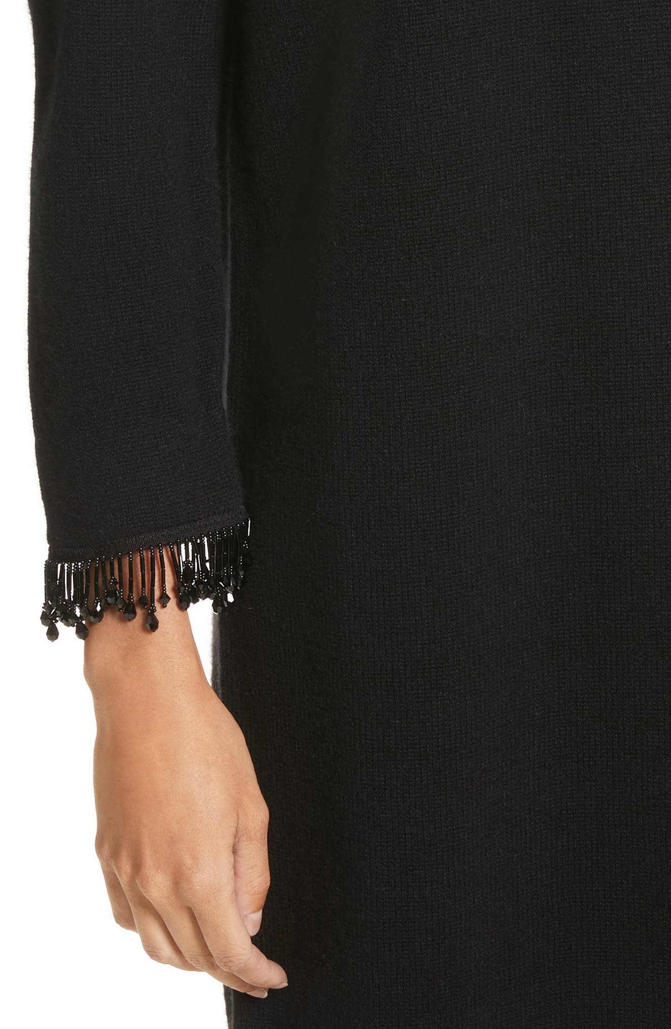 Alternate Image 4  - MARC JACOBS Beaded Fringe Wool & Cashmere Dress