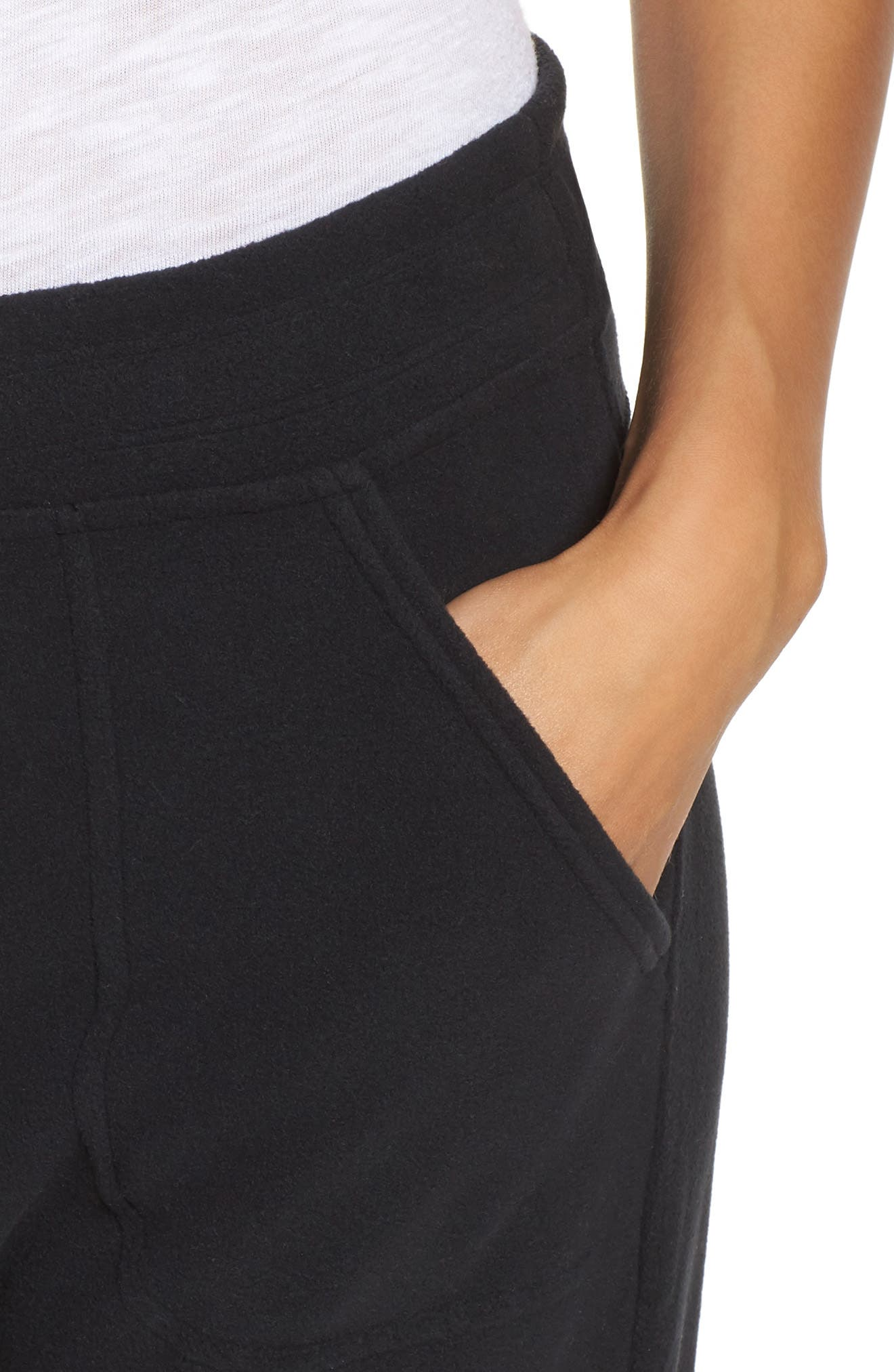 Snap-T Fleece Pants,                             Alternate thumbnail 4, color,                             Black