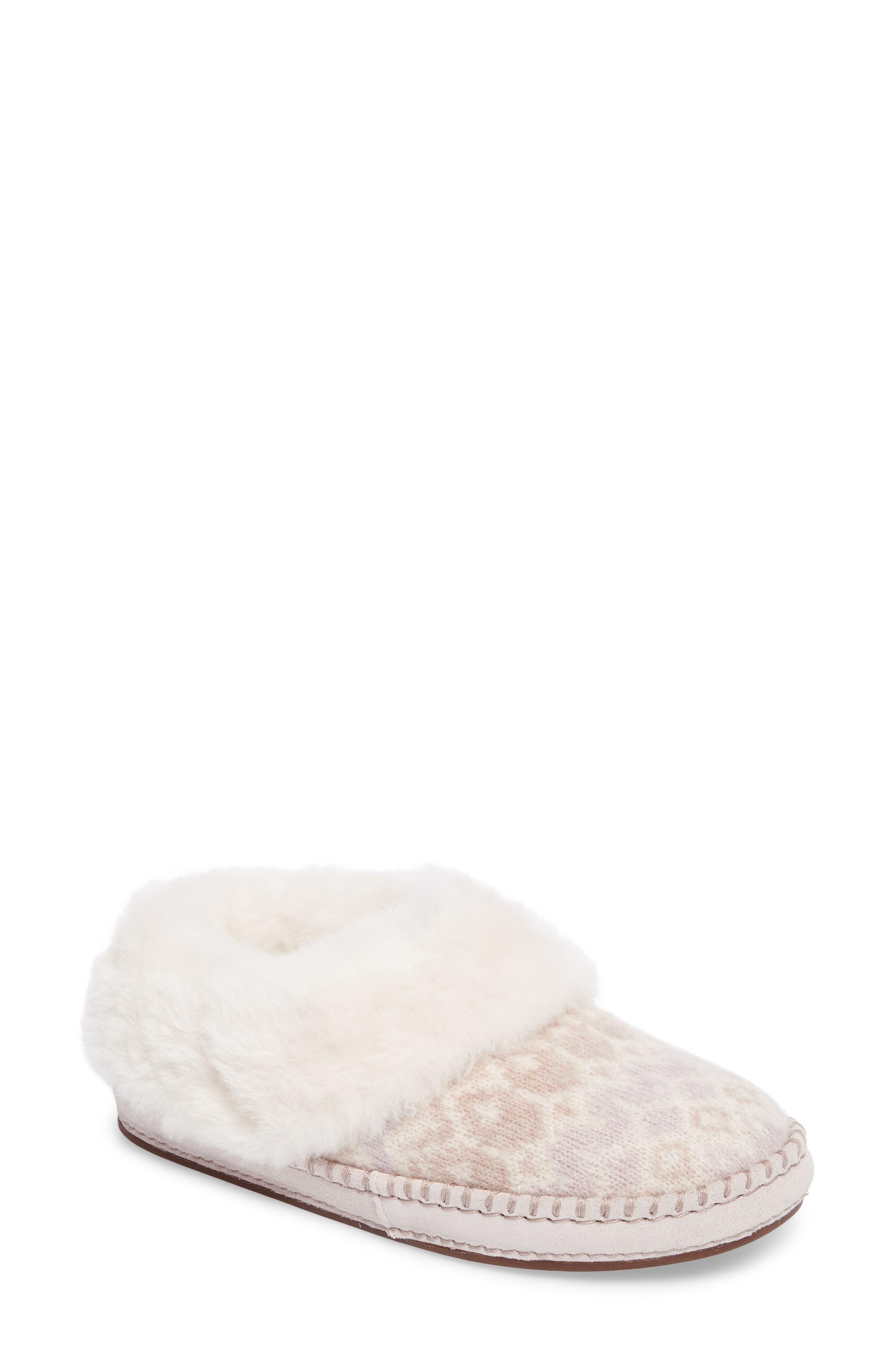UGG® Wrin Genuine Shearling Trim Slipper (Women)