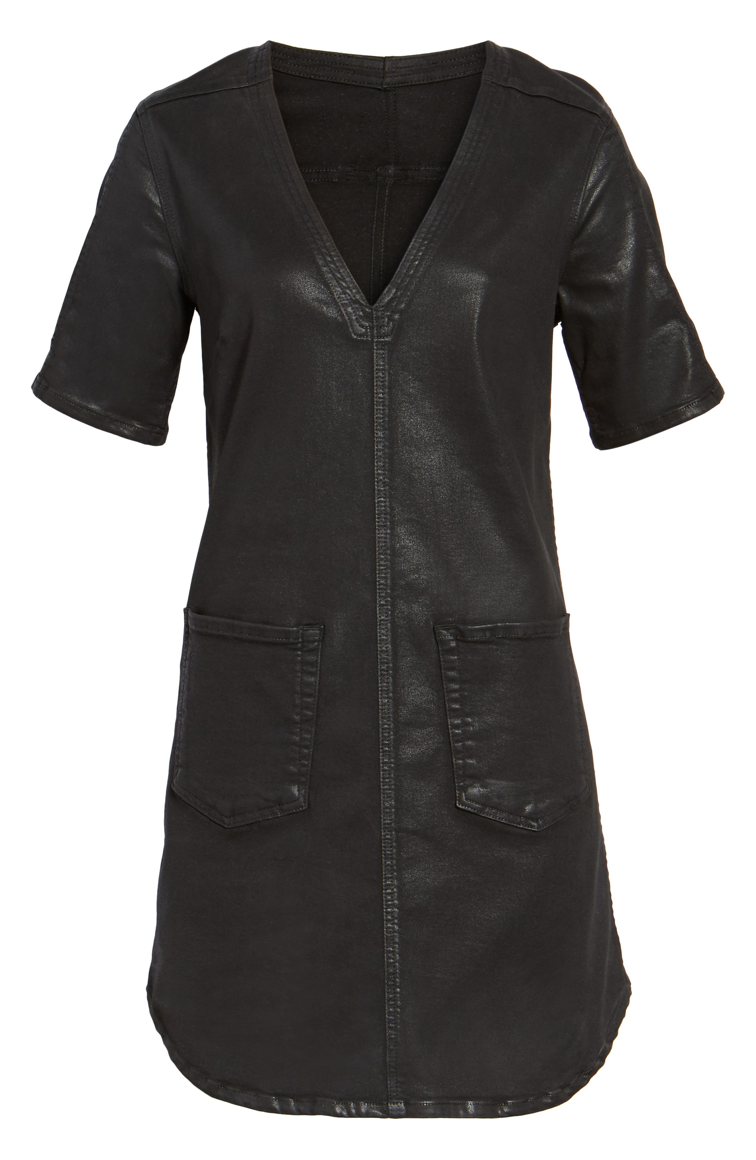 Alternate Image 6  - 7 For All Mankind® Coated Shift Dress