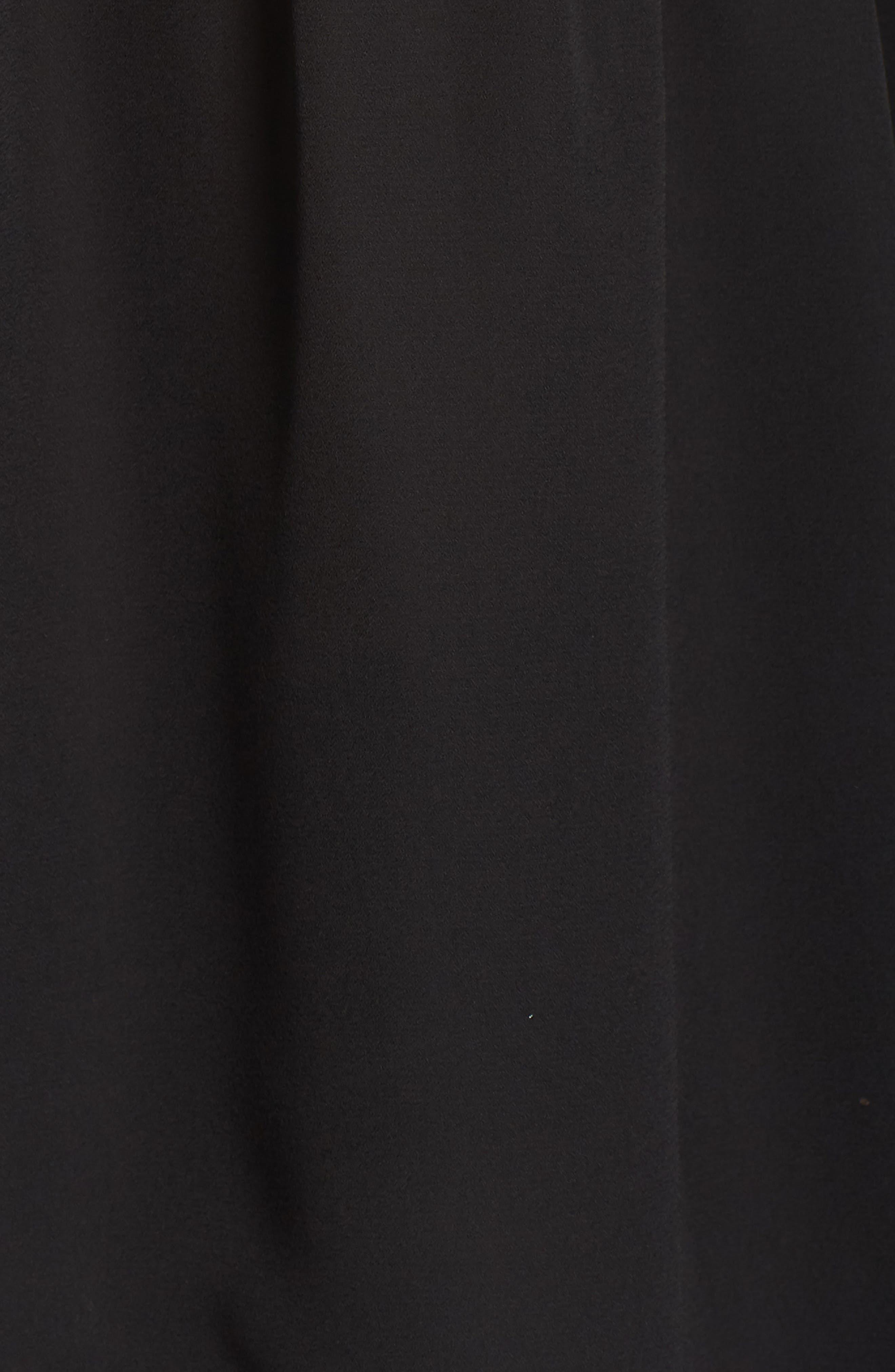 Layered Ruffle Blouse,                             Alternate thumbnail 6, color,                             Black