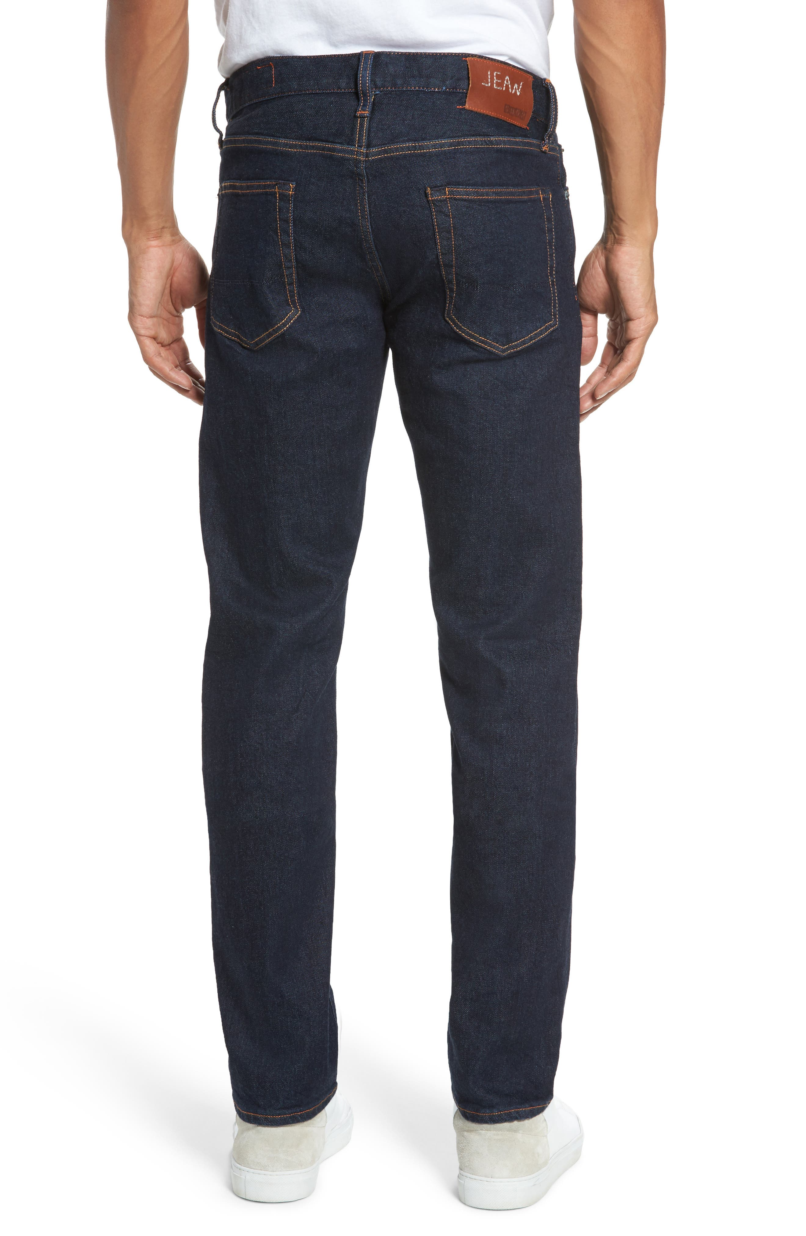 Jim Slim Fit Selvedge Jeans,                             Alternate thumbnail 2, color,                             Stretch Rinse