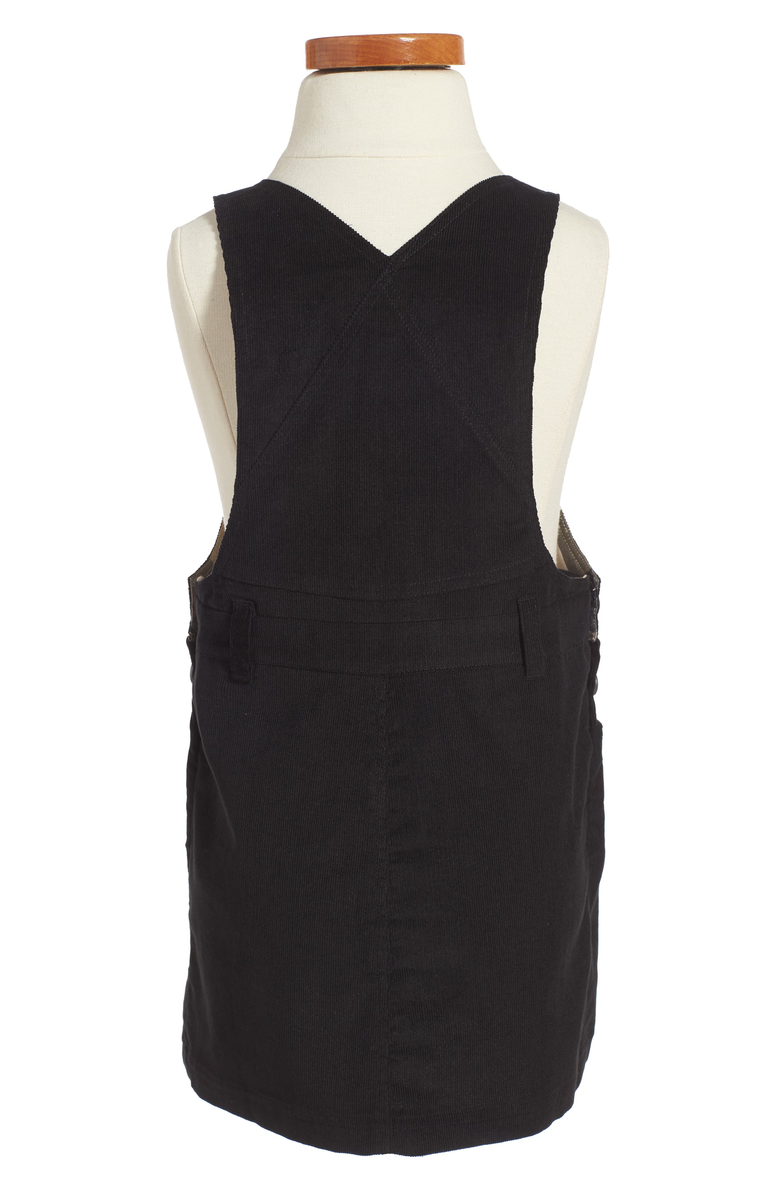 Alternate Image 2  - Burberry Wilma Overalls Dress (Toddler Girls)