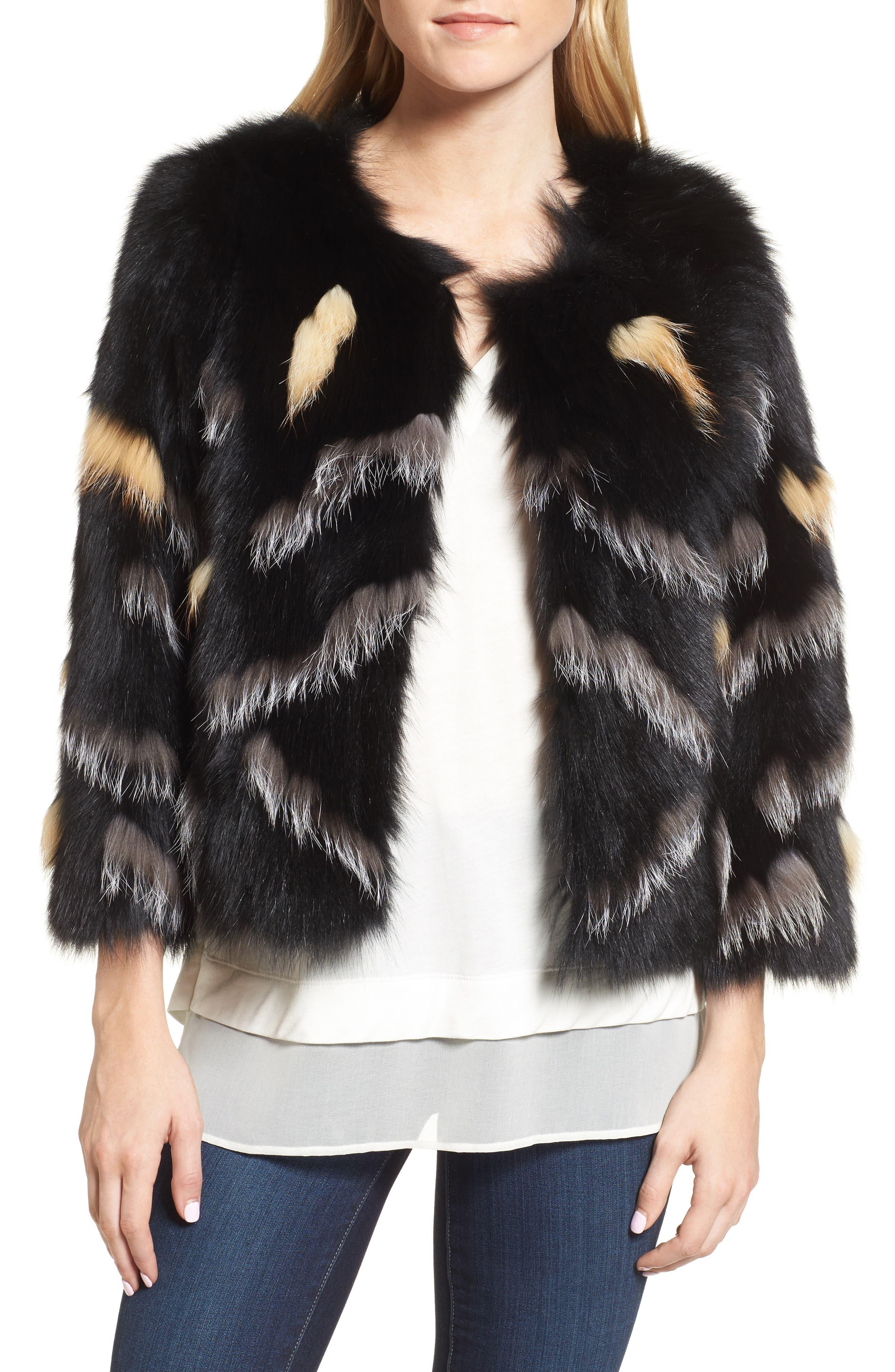 Love Token Genuine Fox Fur Jacket