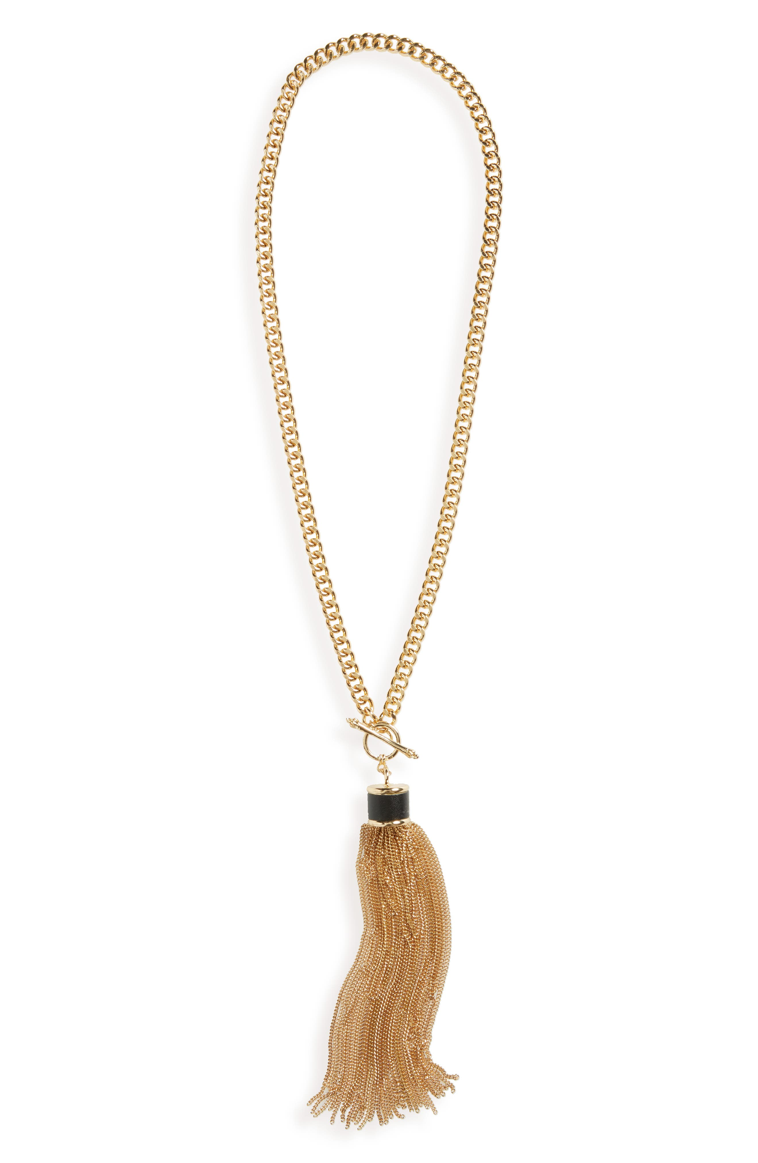 Main Image - Cara Chain Tassel Necklace