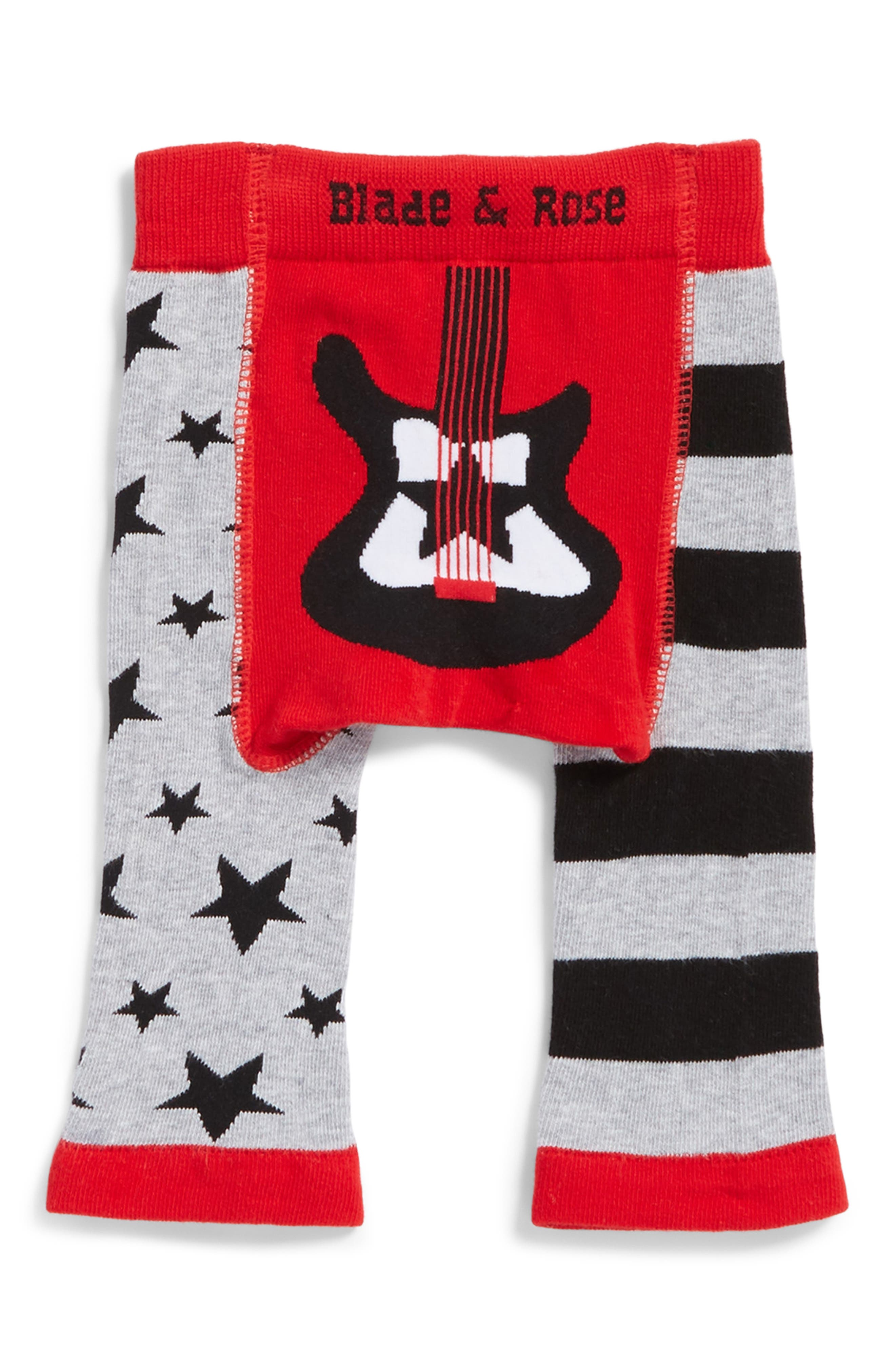 Guitar Leggings,                             Main thumbnail 1, color,                             Red/ Grey/ Black