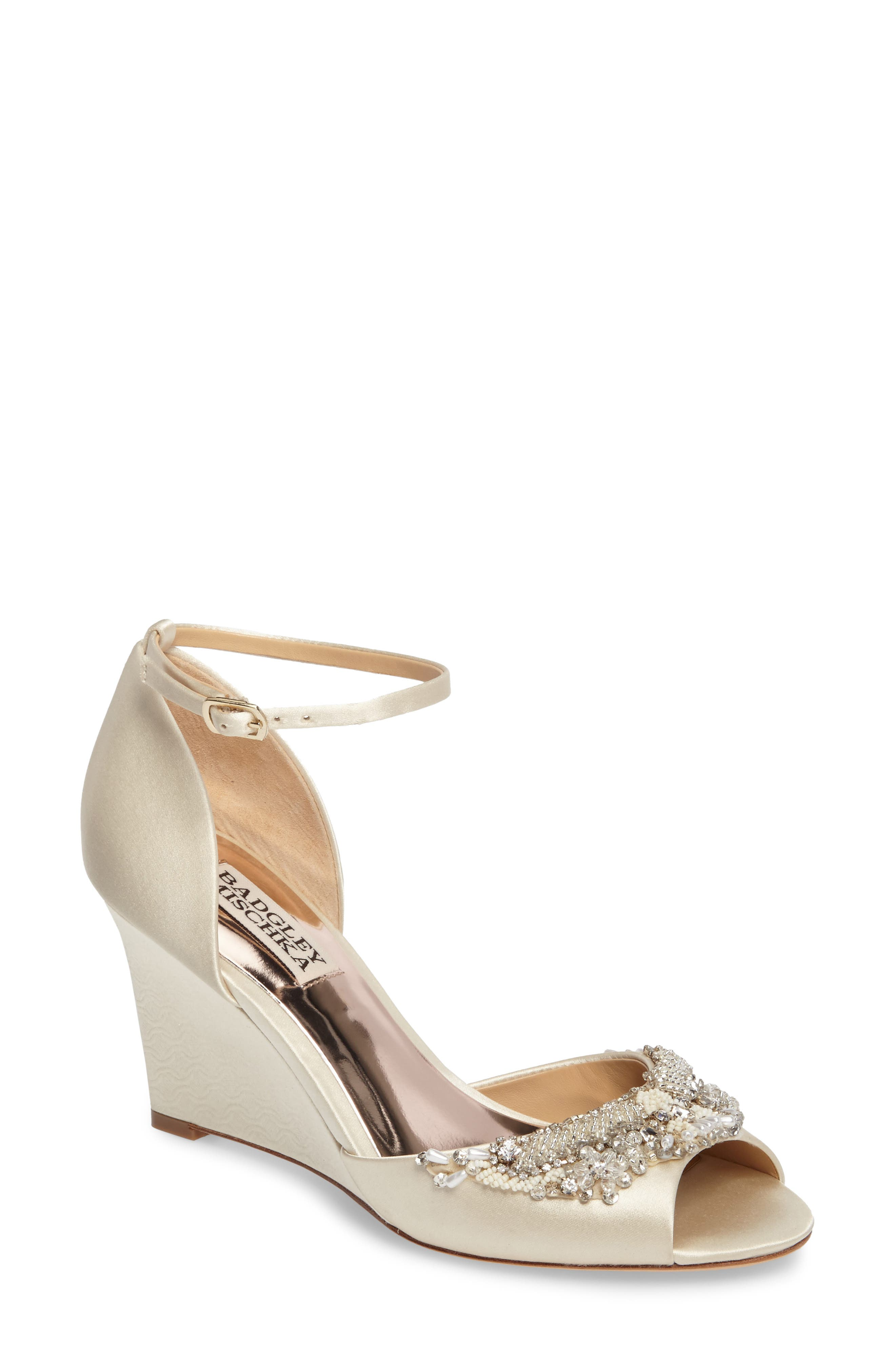 Badgley Mischka Malorie Embellished Sandal (Women)