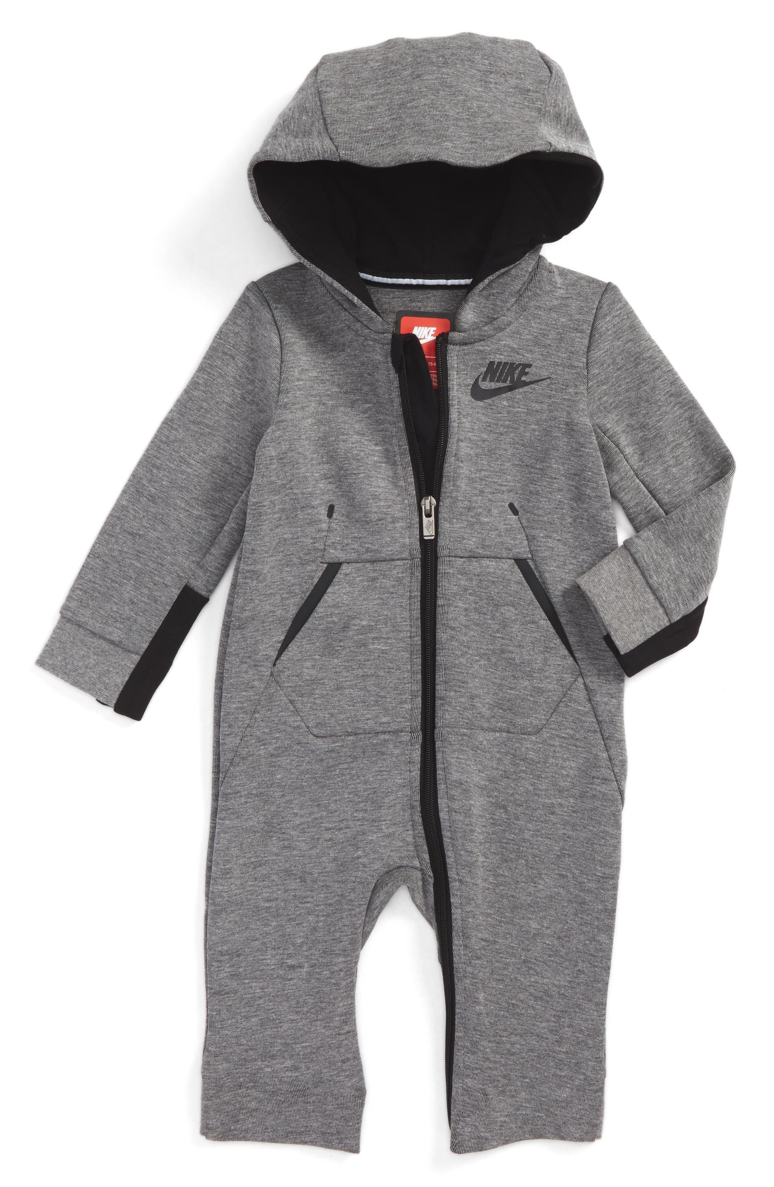 Nike Tech Fleece Romper (Baby Boys)