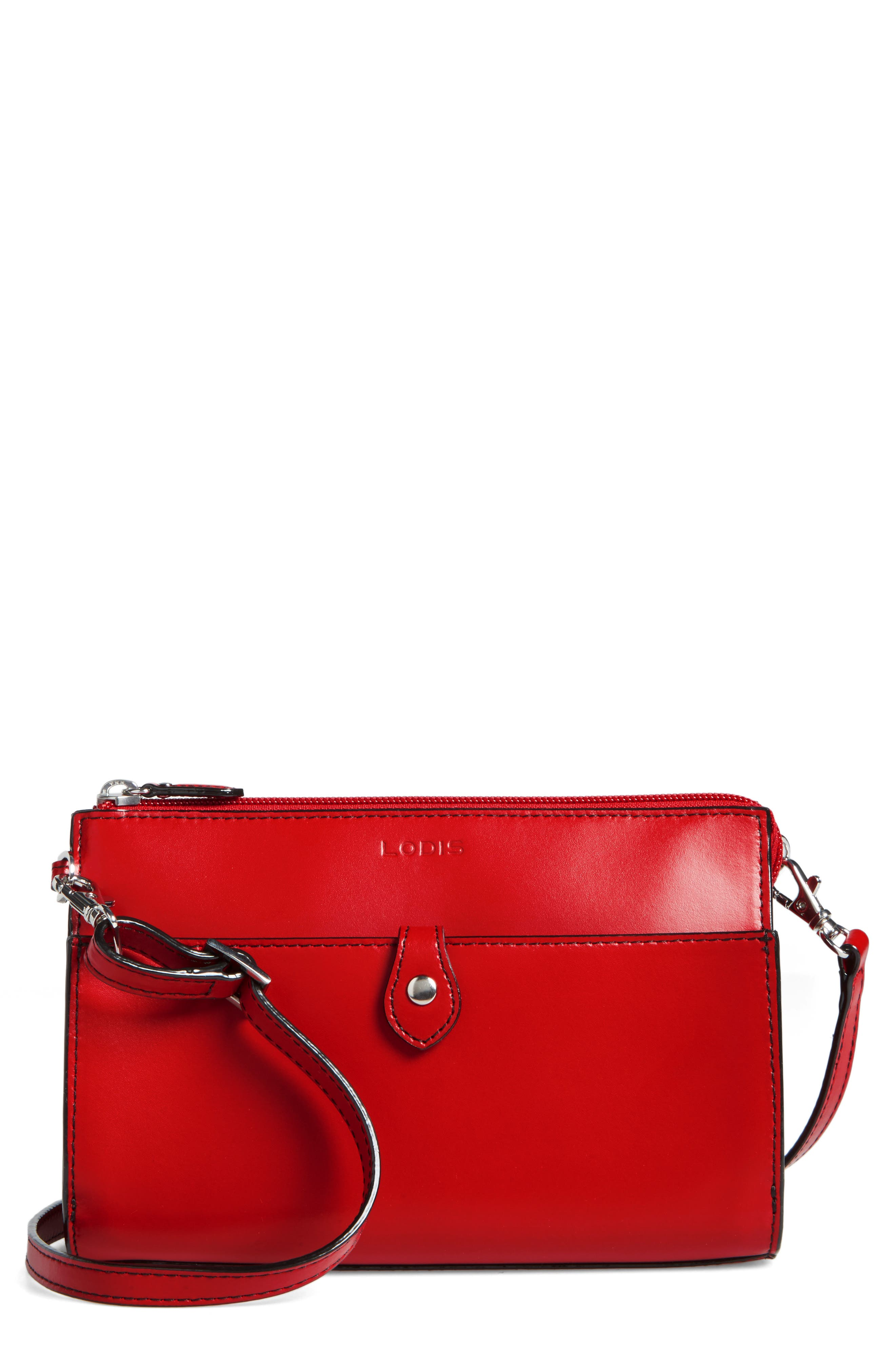 Lodis Audrey Vicky Convertible Leather Crossbody Bag
