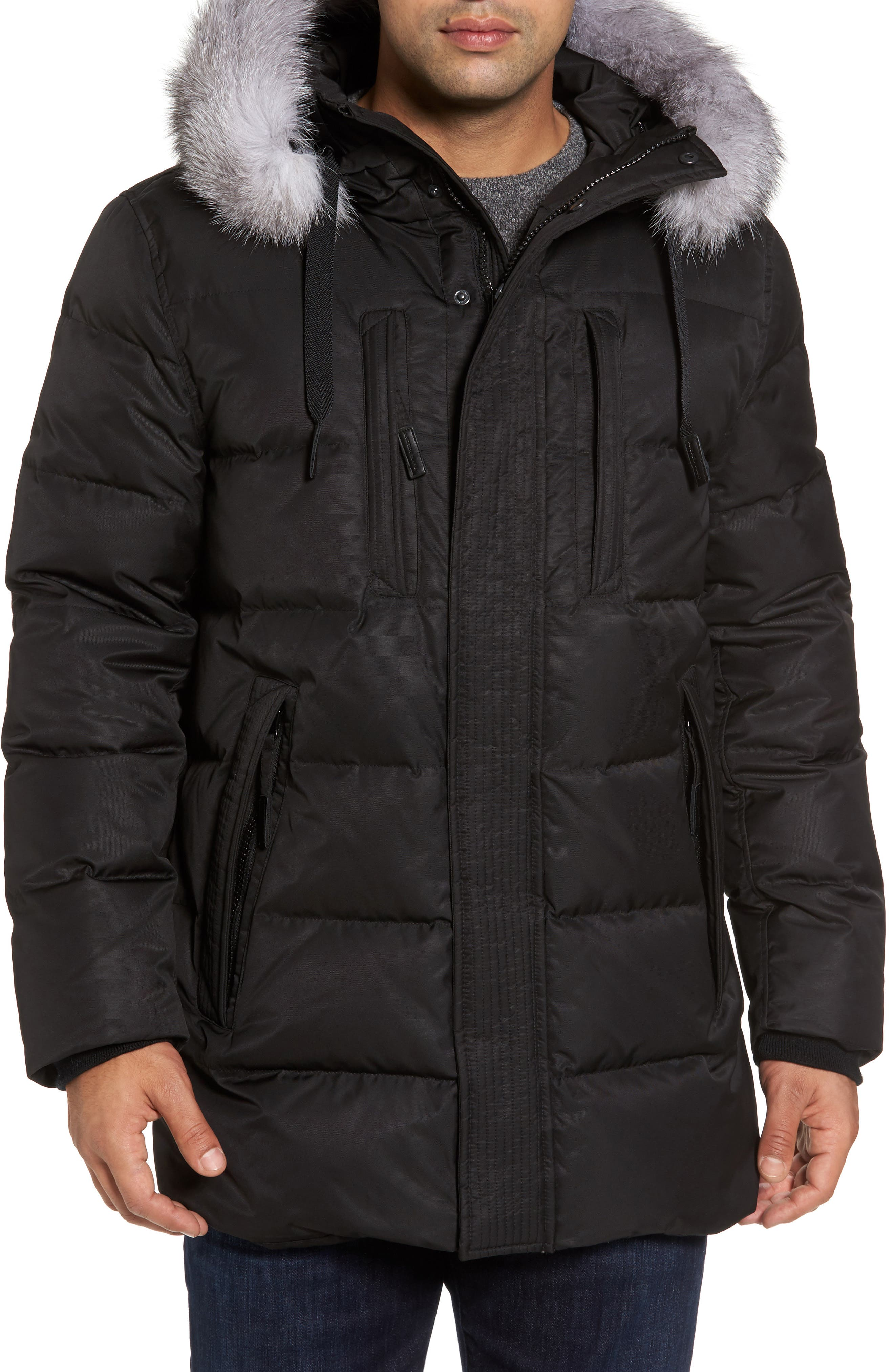 Alternate Image 4  - Andrew Marc Quilted Down Jacket with Genuine Fox Fur Trim