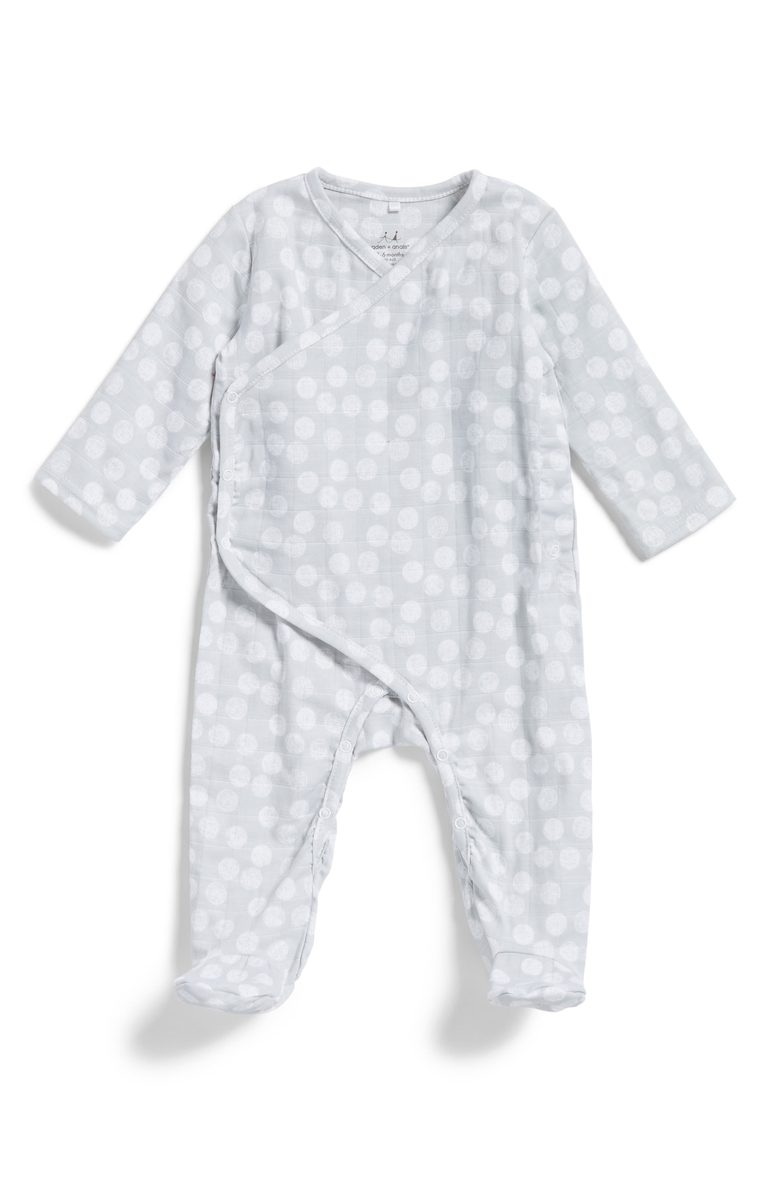 Main Image - aden + anais Kimono One-Piece (Baby)