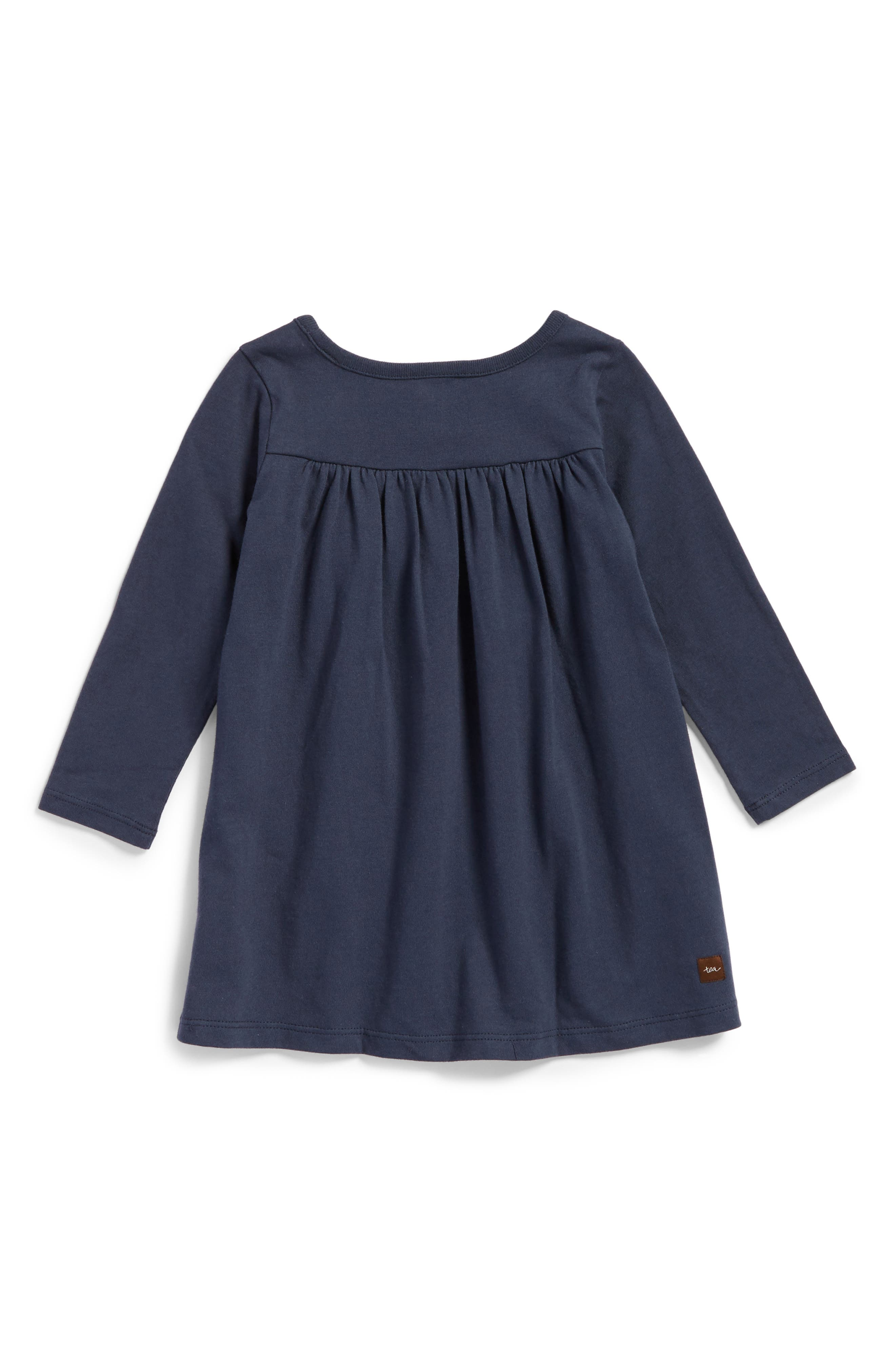 Alternate Image 2  - Tea Collection Cloudberry Graphic Dress (Baby Girls)