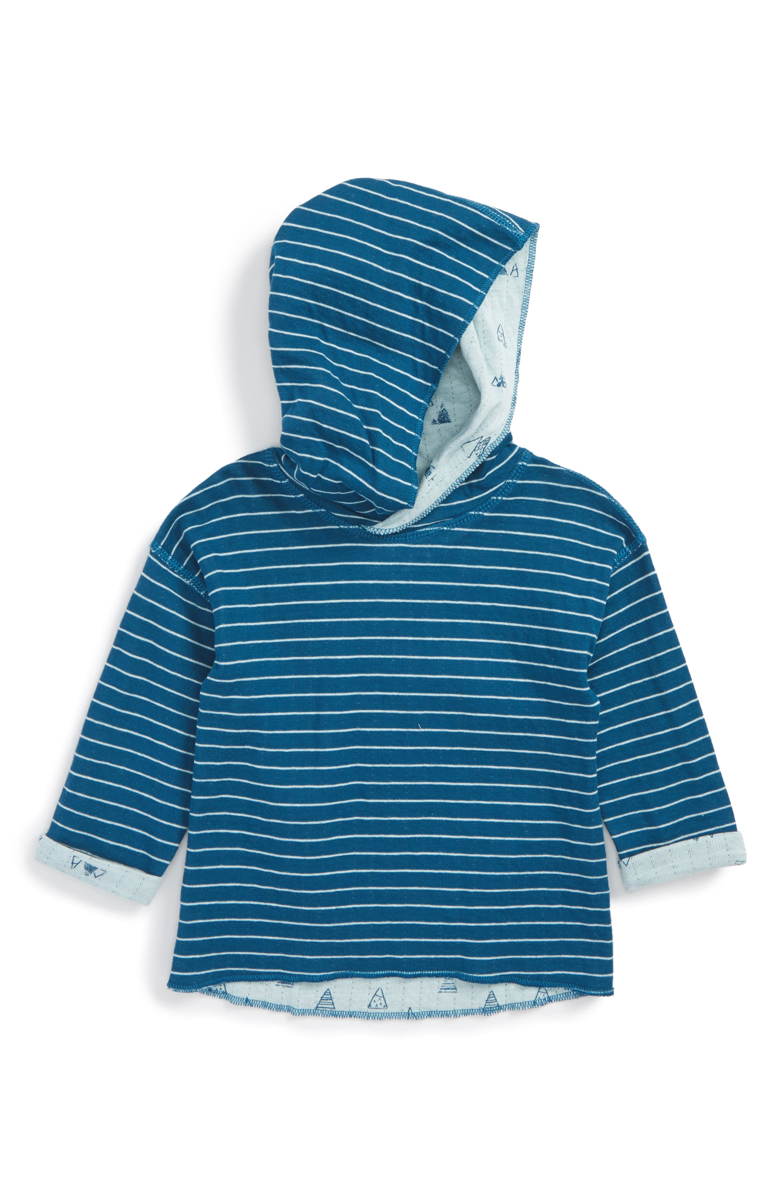 Reversible Hooded Pullover,                         Main,                         color, Teal