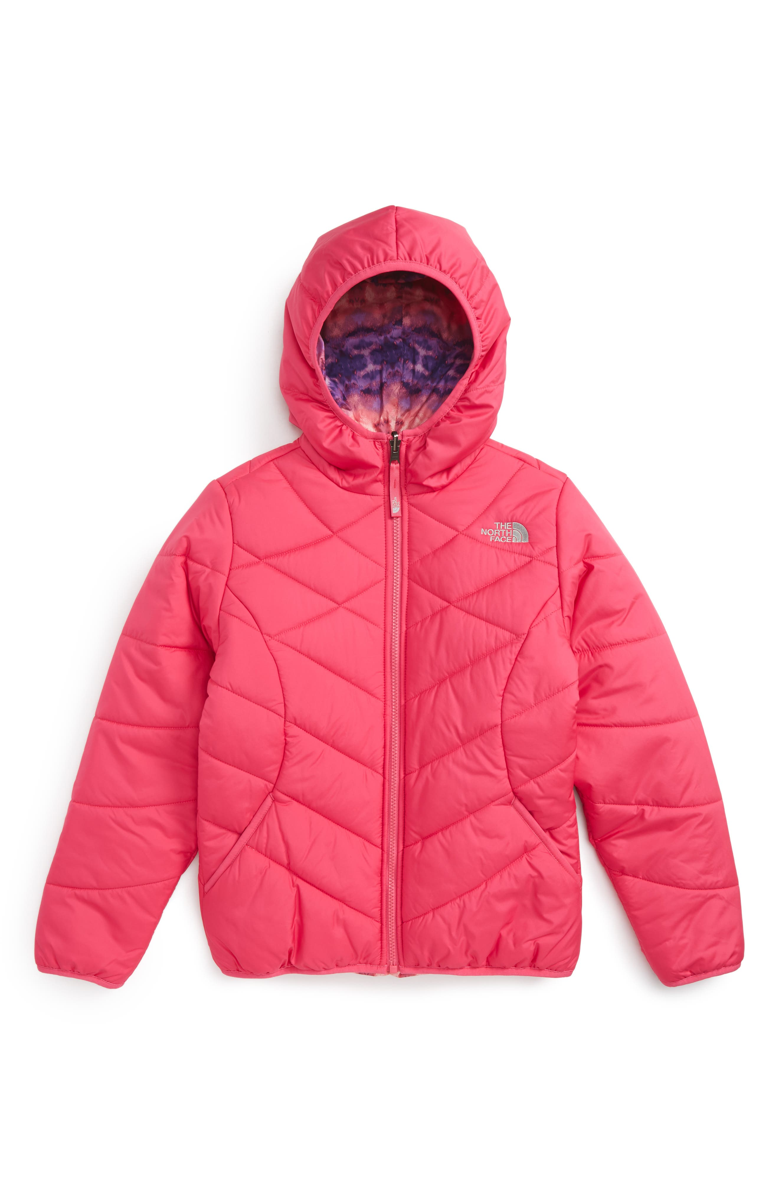 Alternate Image 1 Selected - The North Face Perrito Reversible Hooded Jacket (Little Girls & Big GIrls)