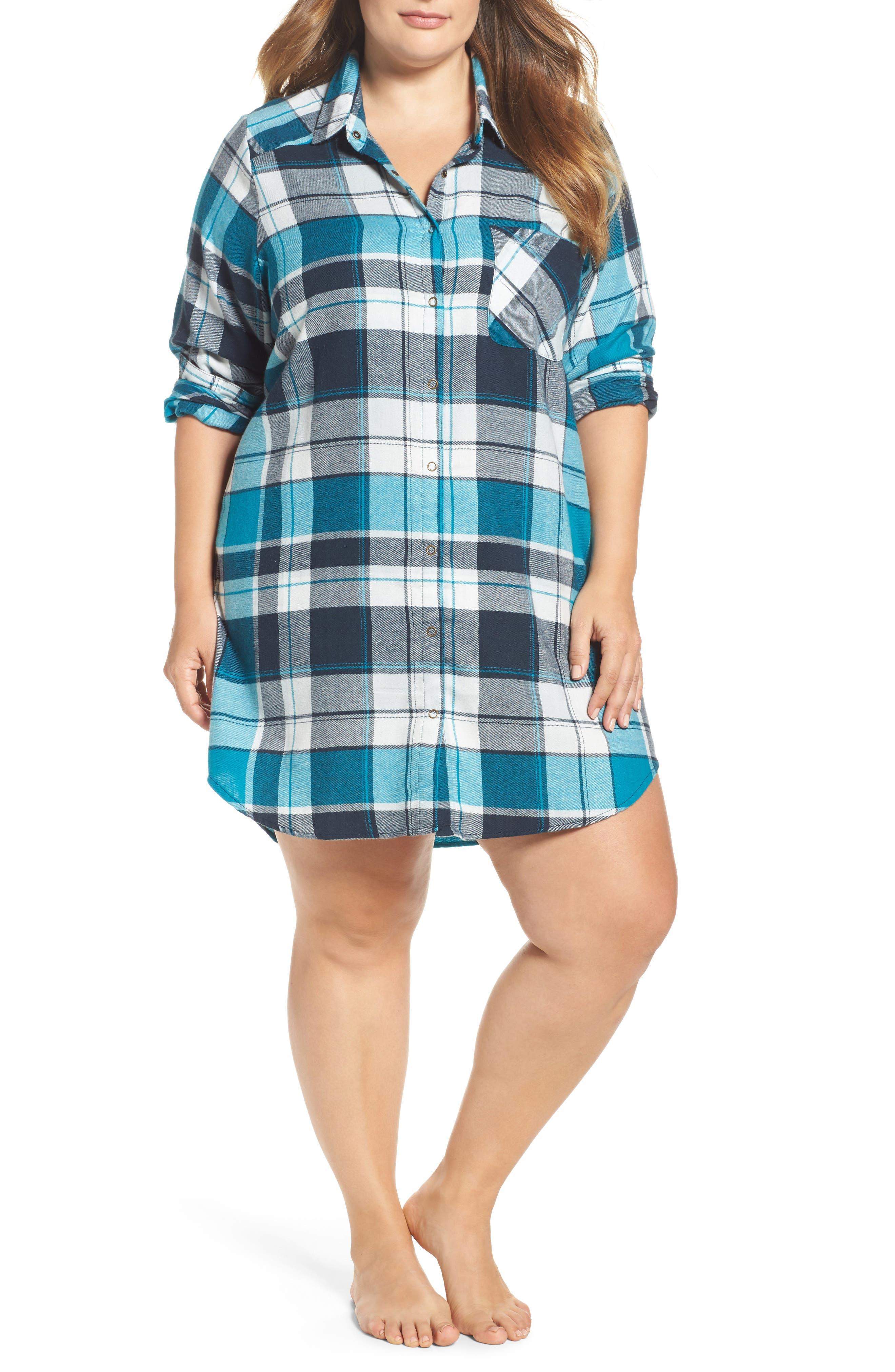 Make + Model Plaid Flannel Nightshirt (Plus Size)