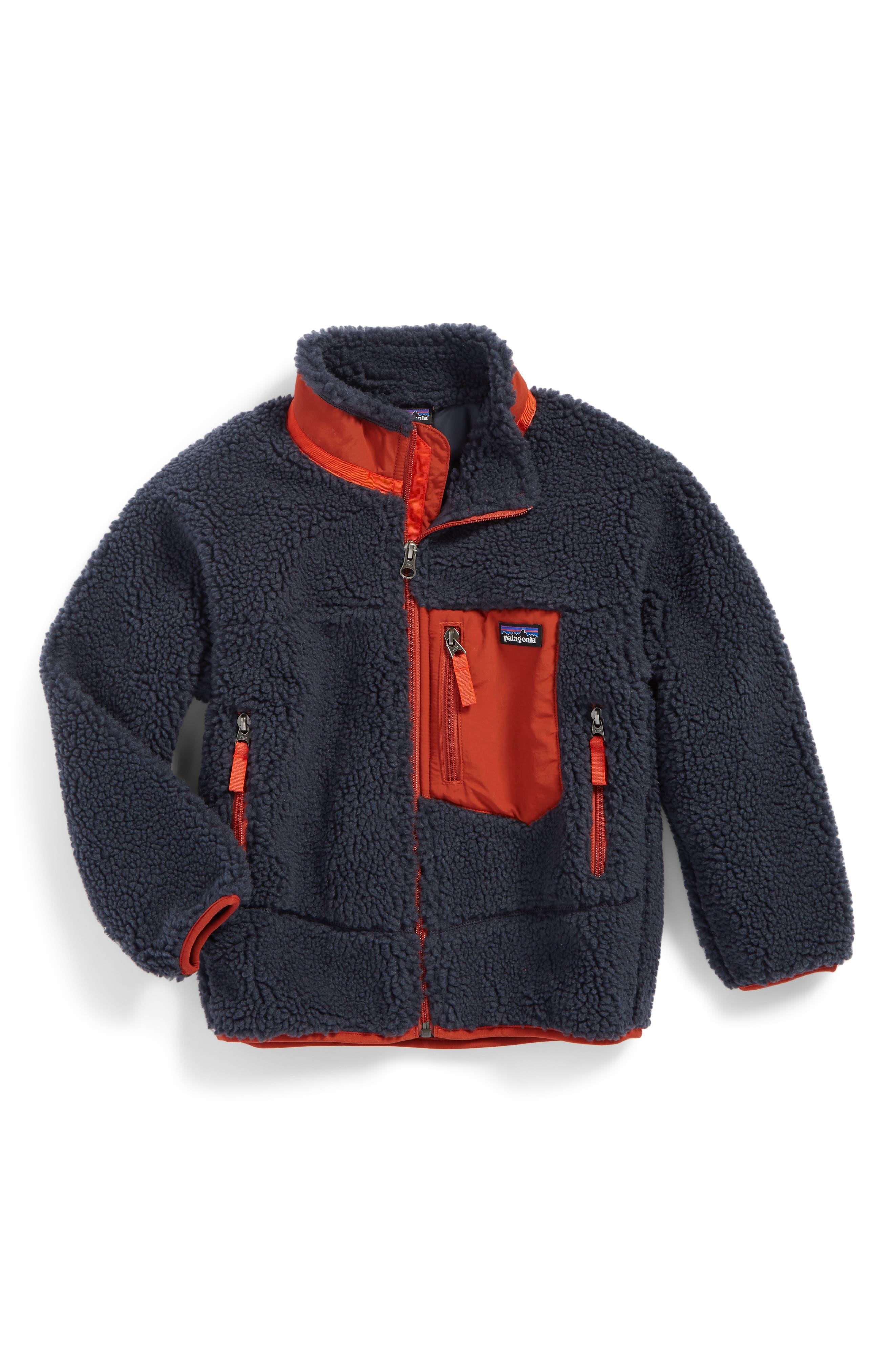 Alternate Image 1 Selected - Patagonia Retro-X Windproof Fleece Jacket (Big Boys)