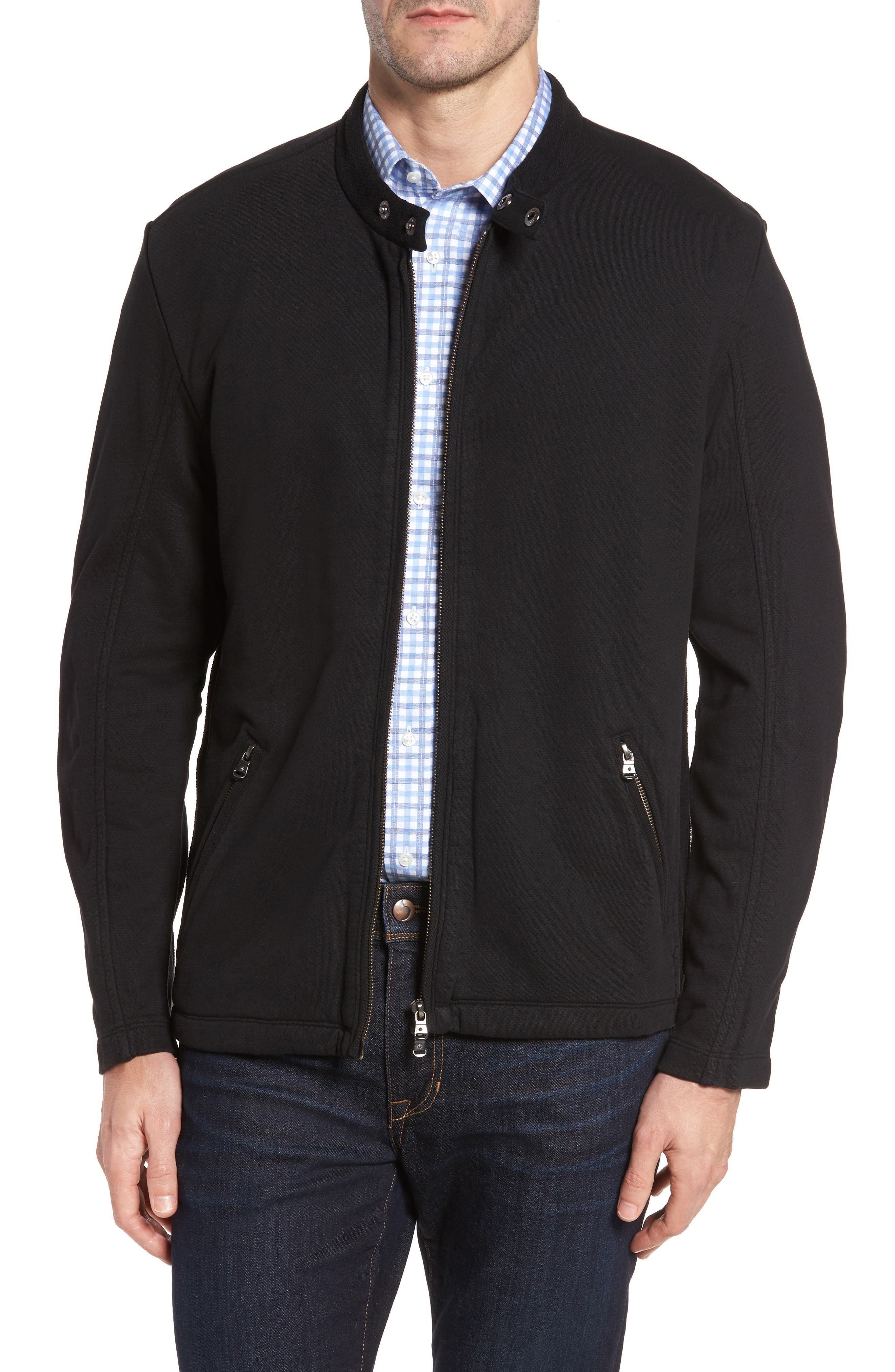Rhodes Motorcross Knit Jacket,                         Main,                         color, Black
