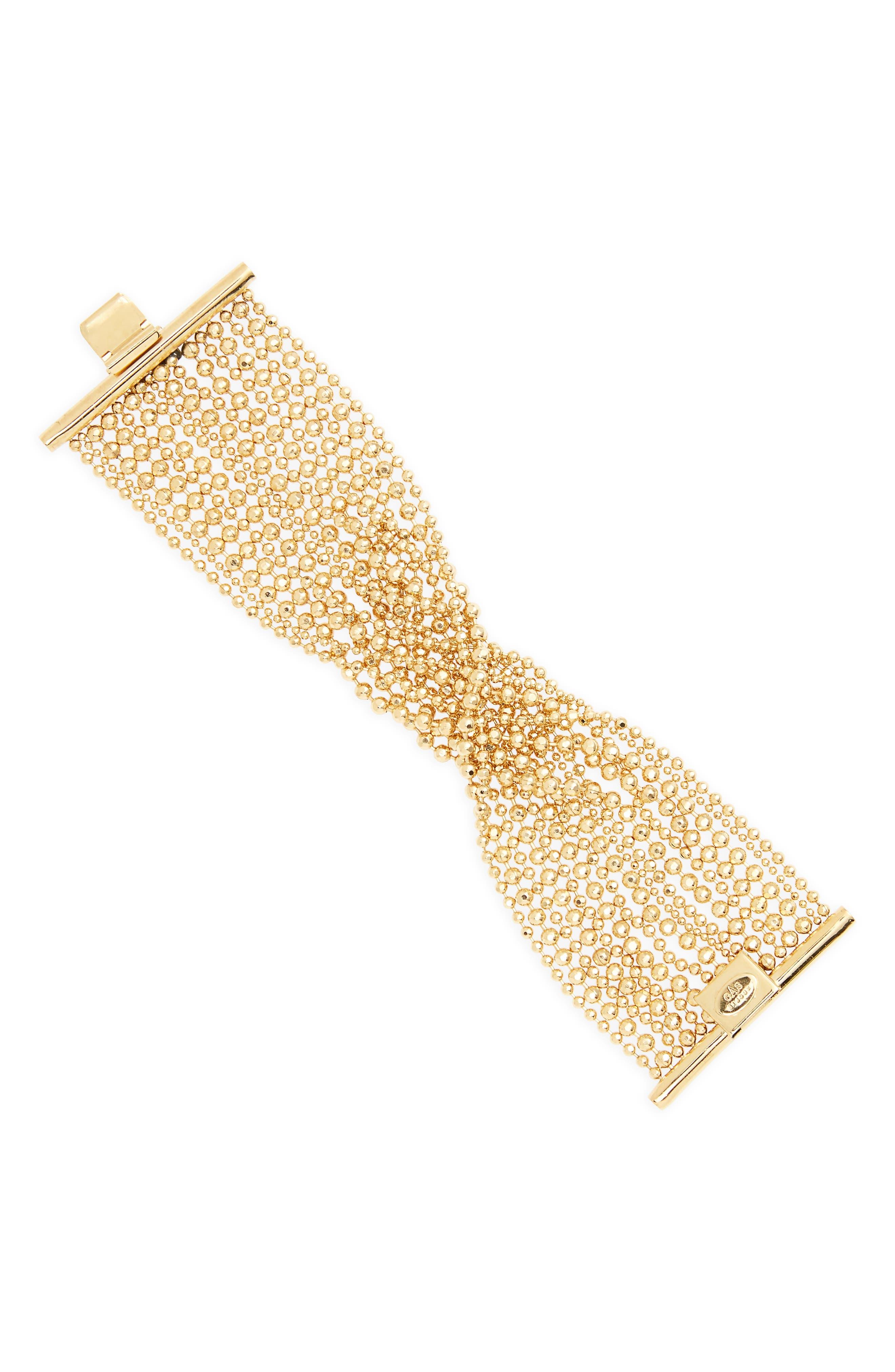 Romeo Multistrand Bracelet,                         Main,                         color, Gold