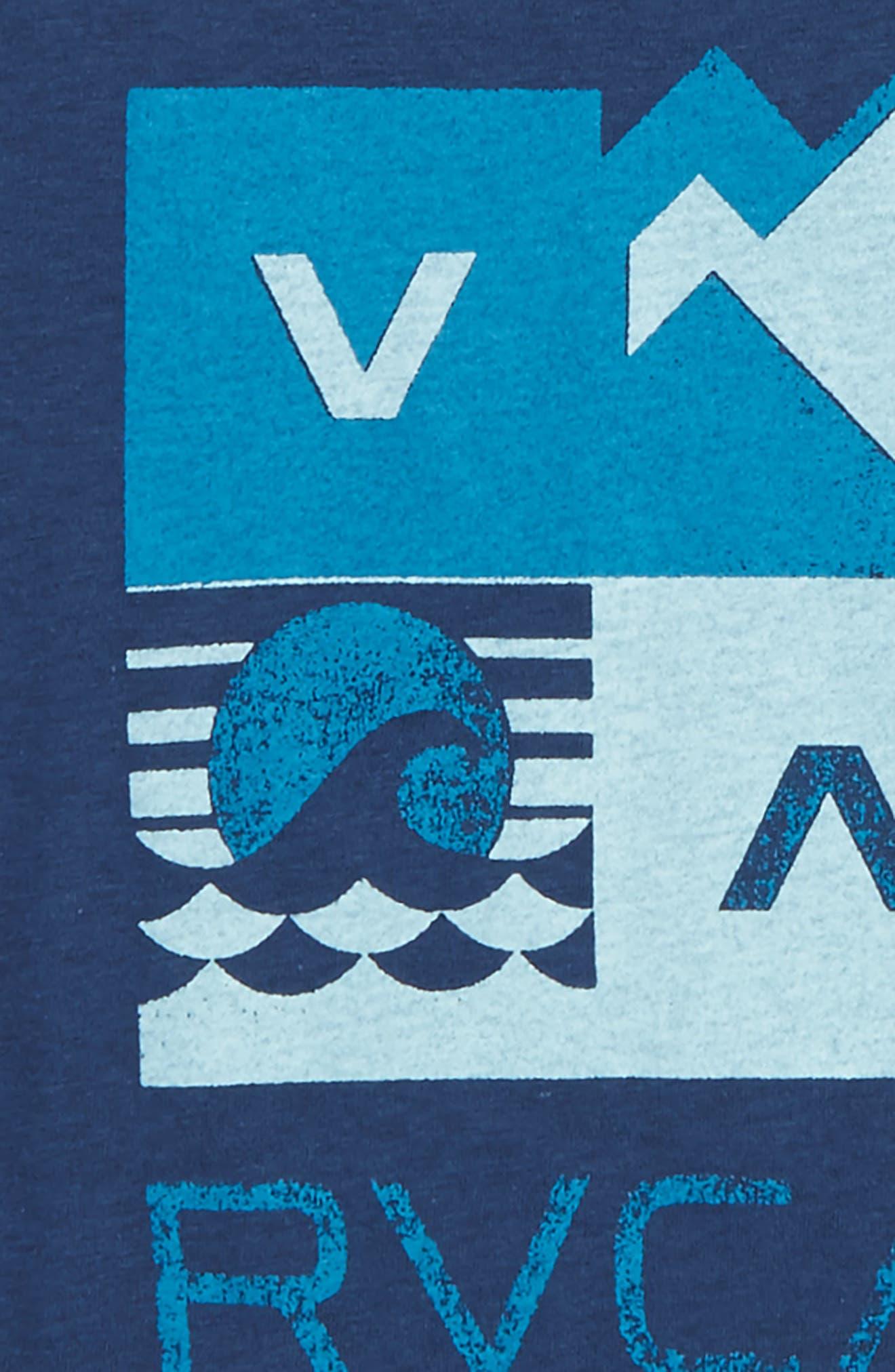 Surf Check Graphic Print T-Shirt,                             Alternate thumbnail 2, color,                             Dark Denim