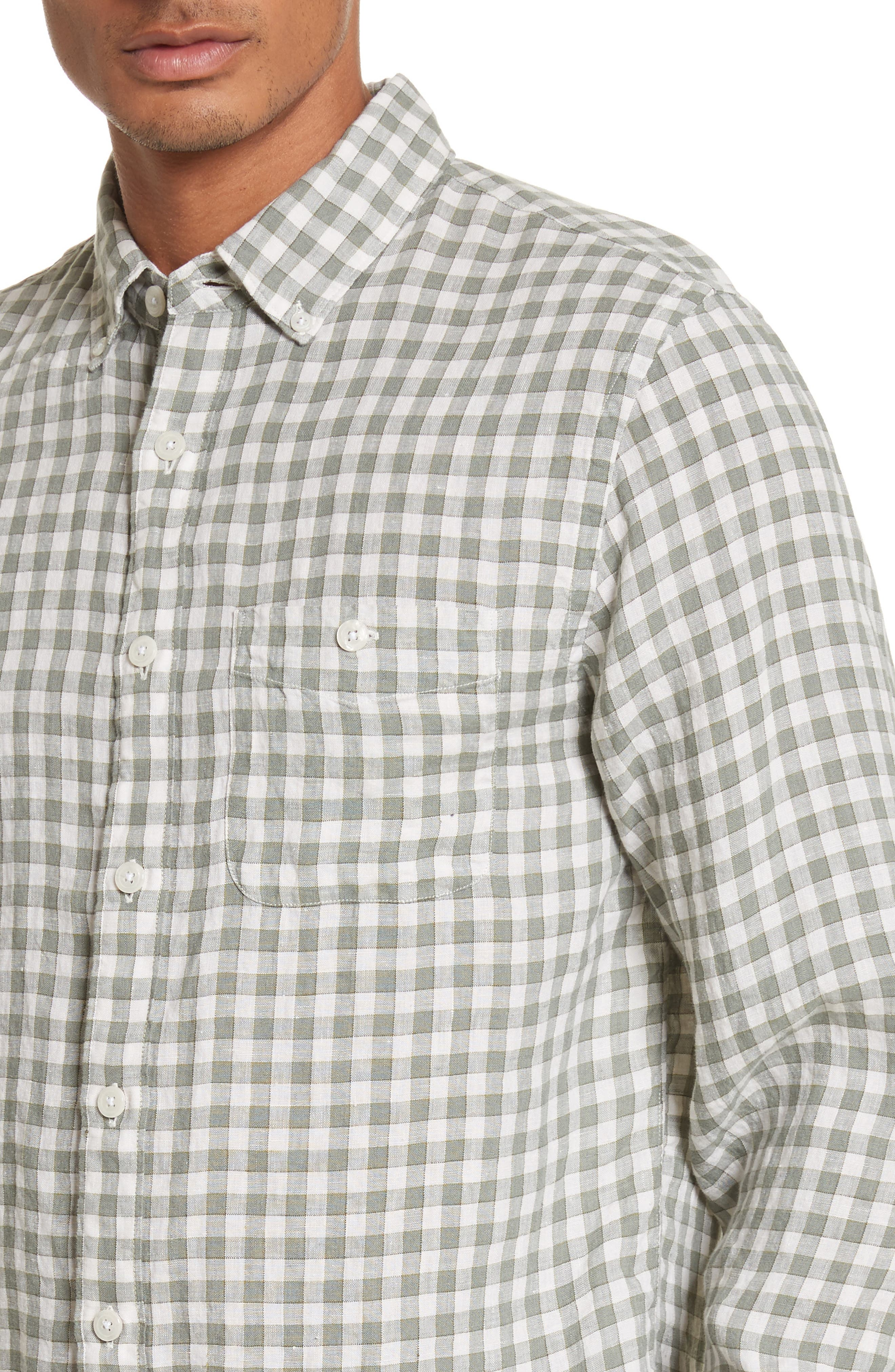 Alternate Image 4  - Todd Snyder Check Woven Shirt