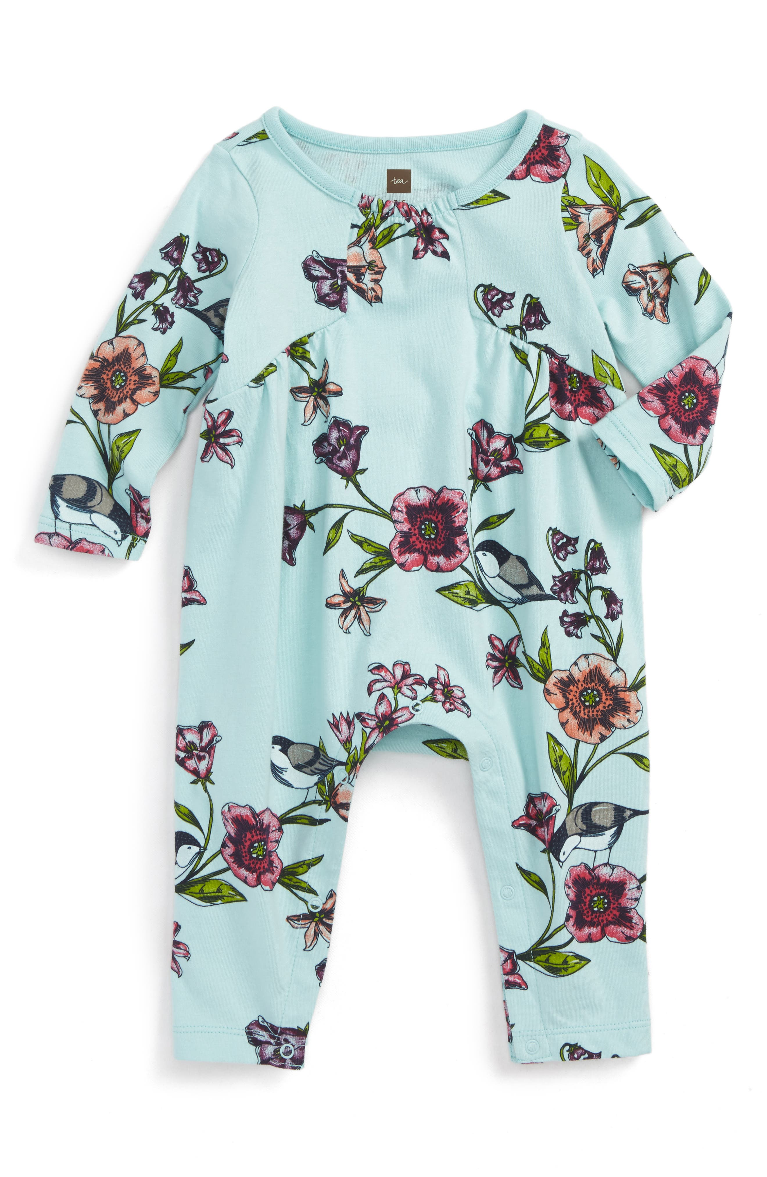 Tea Collection Glenna Pieced Romper (Baby Girls)