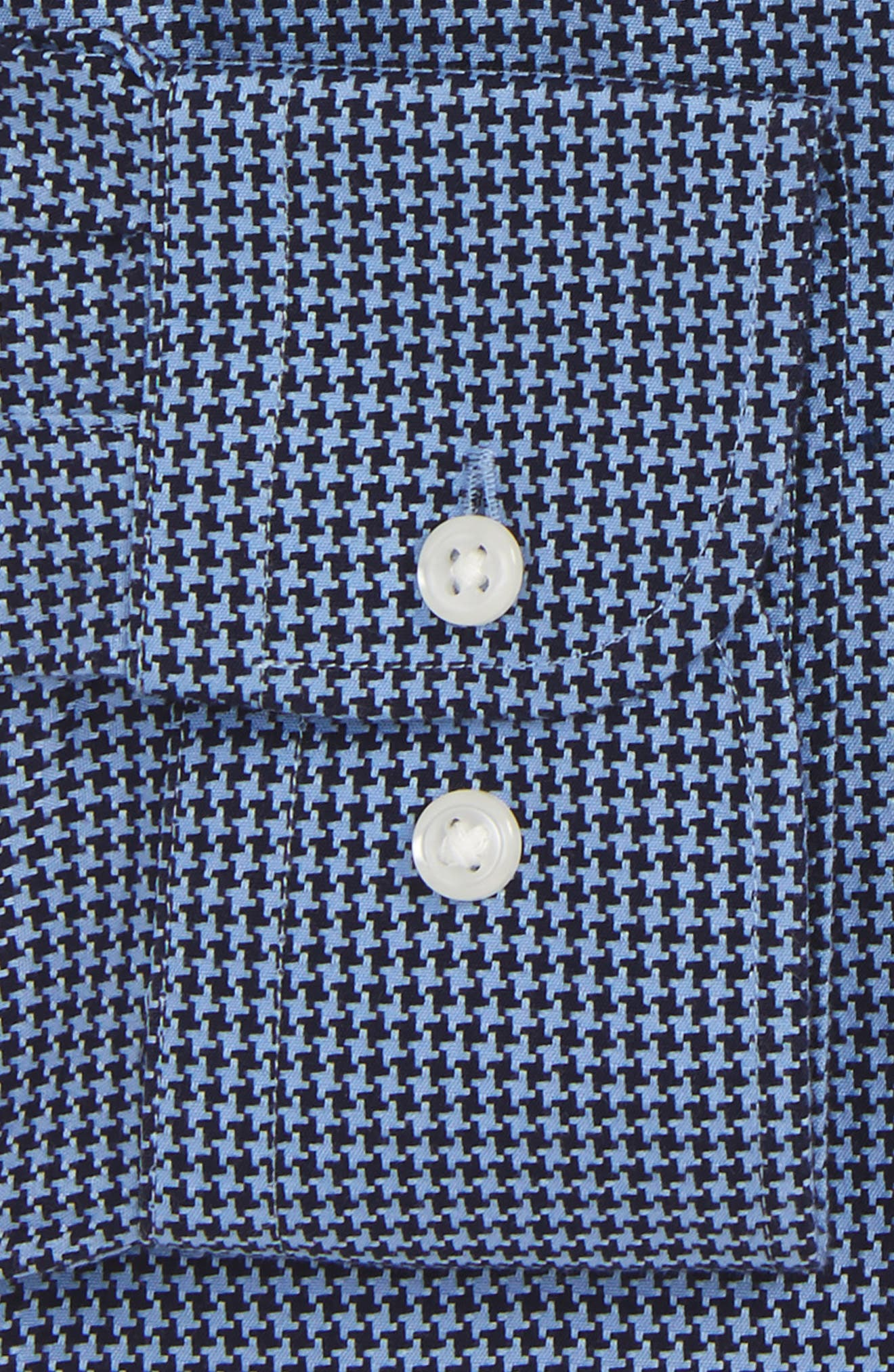 Smartcare<sup>™</sup> Traditional Fit Houndstooth Dress Shirt,                             Alternate thumbnail 2, color,                             Navy Evening