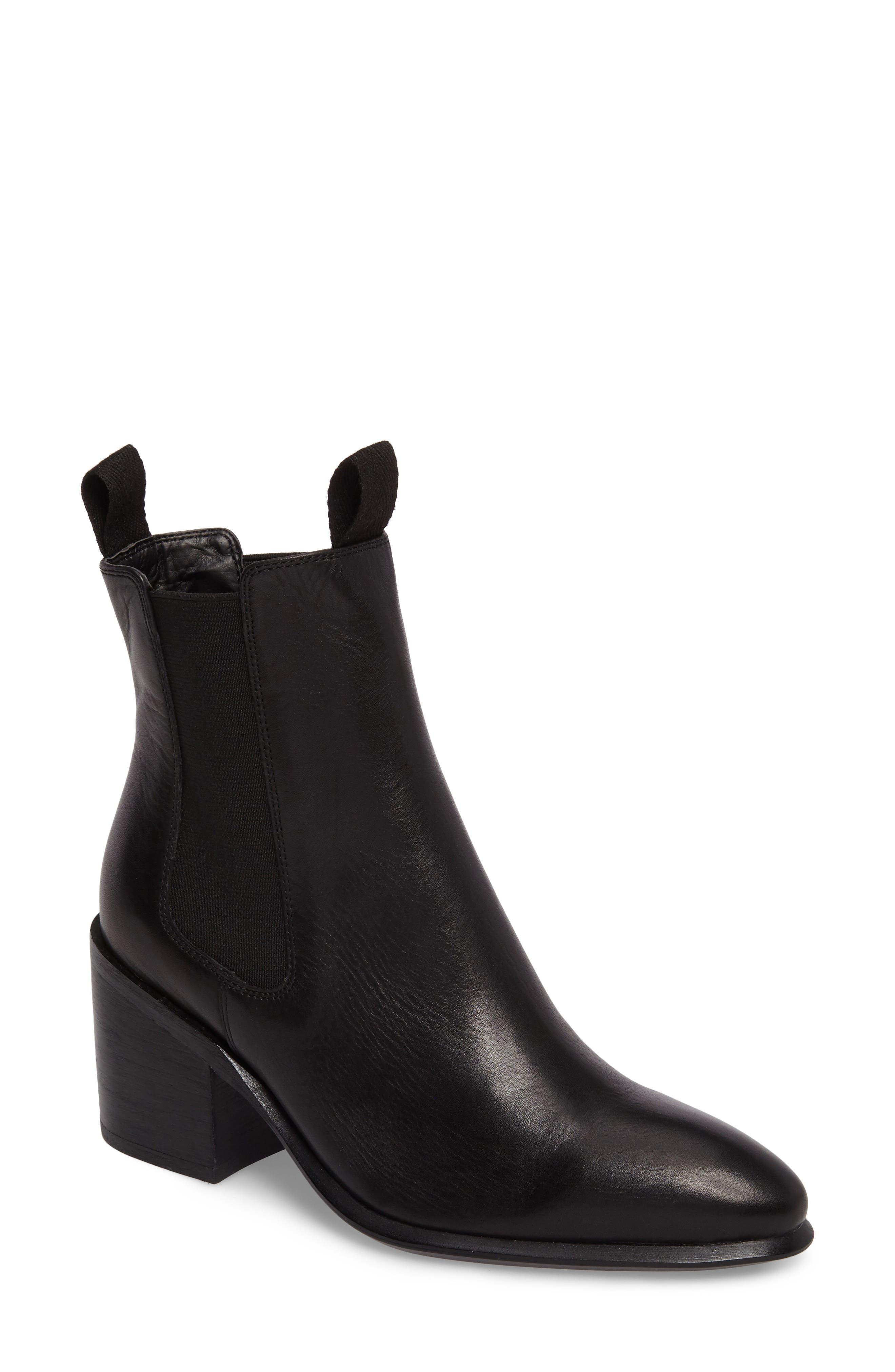 Hampton Bootie,                             Main thumbnail 1, color,                             Black Leather