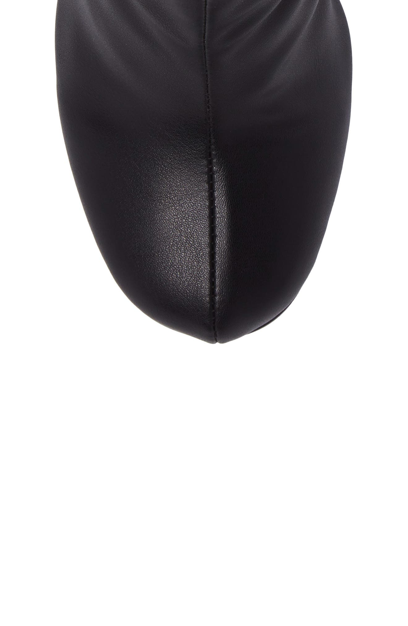 Nyx Stretch Bootie,                             Alternate thumbnail 5, color,                             Black Nappa Leather
