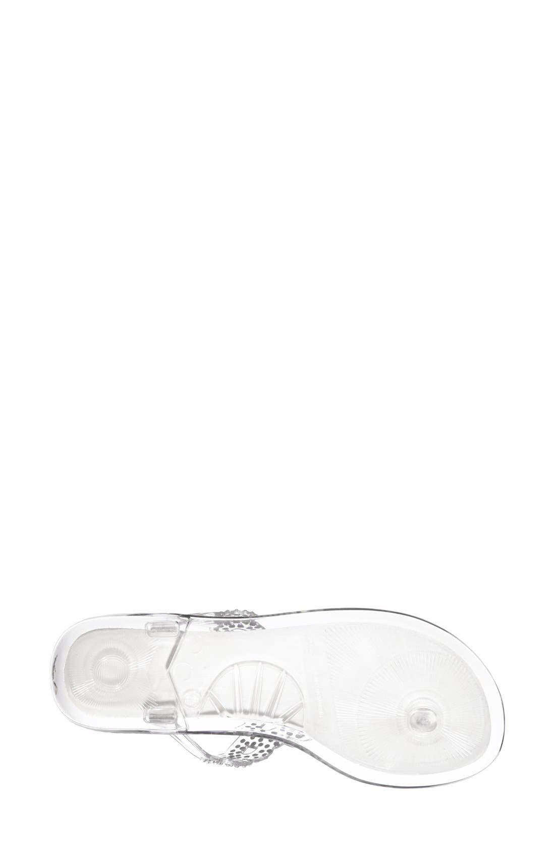 Alternate Image 3  - Stuart Weitzman 'Mermaid' Crystal Embellished Jelly Sandal (Women)