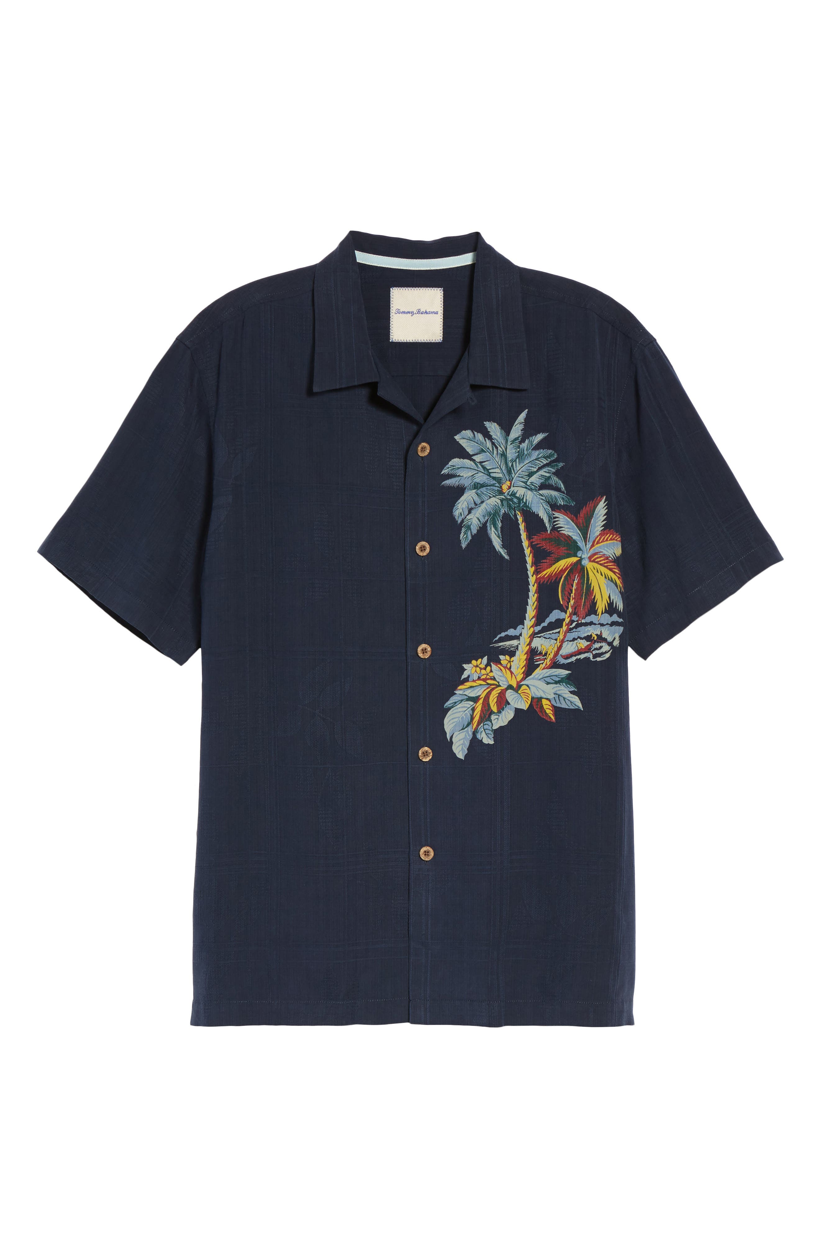 Alternate Image 6  - Tommy Bahama Moonlight Palms Silk Camp Shirt