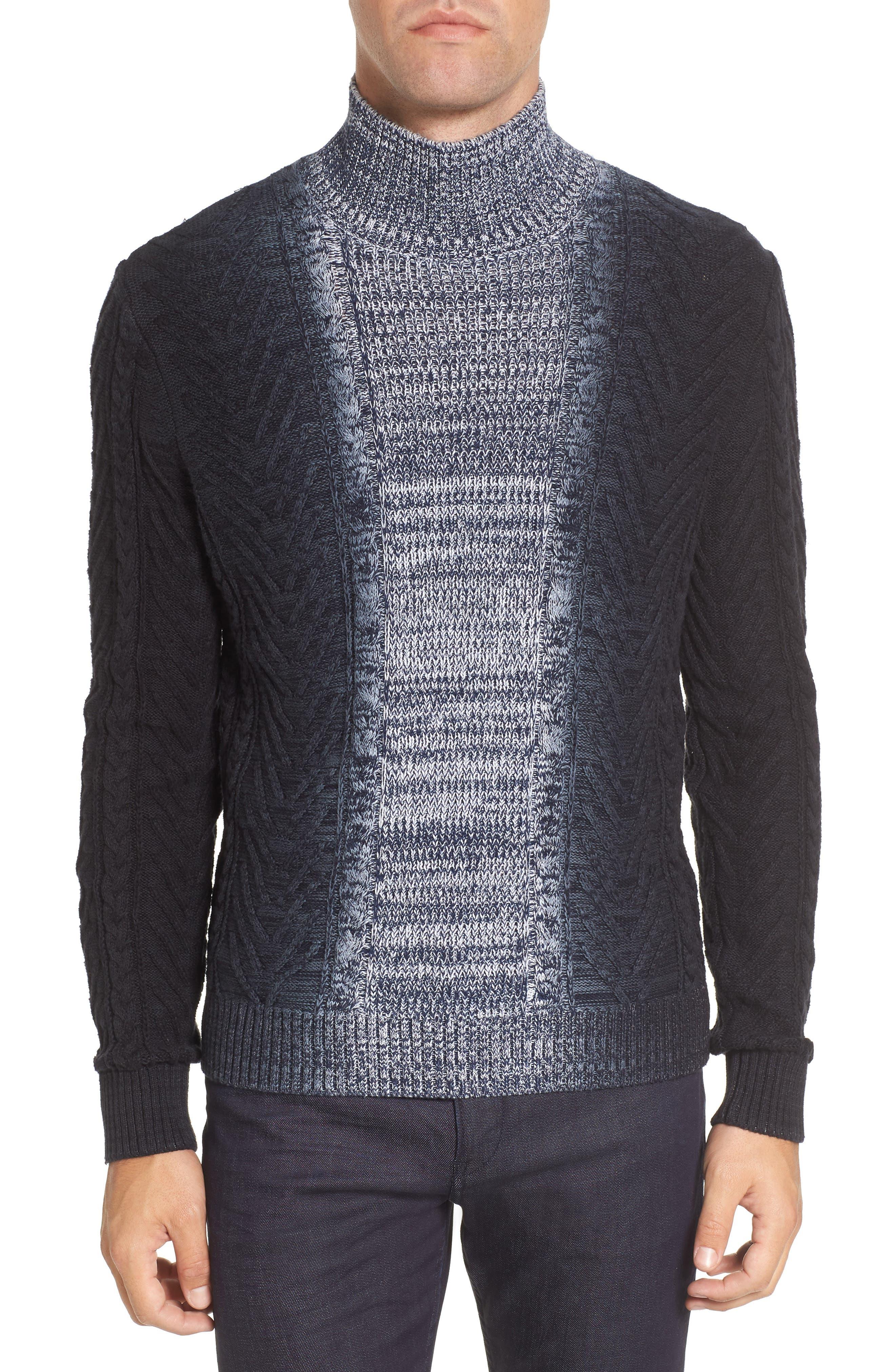 Alternate Image 1 Selected - Vince Camuto Gradient Fade Turtleneck Sweater